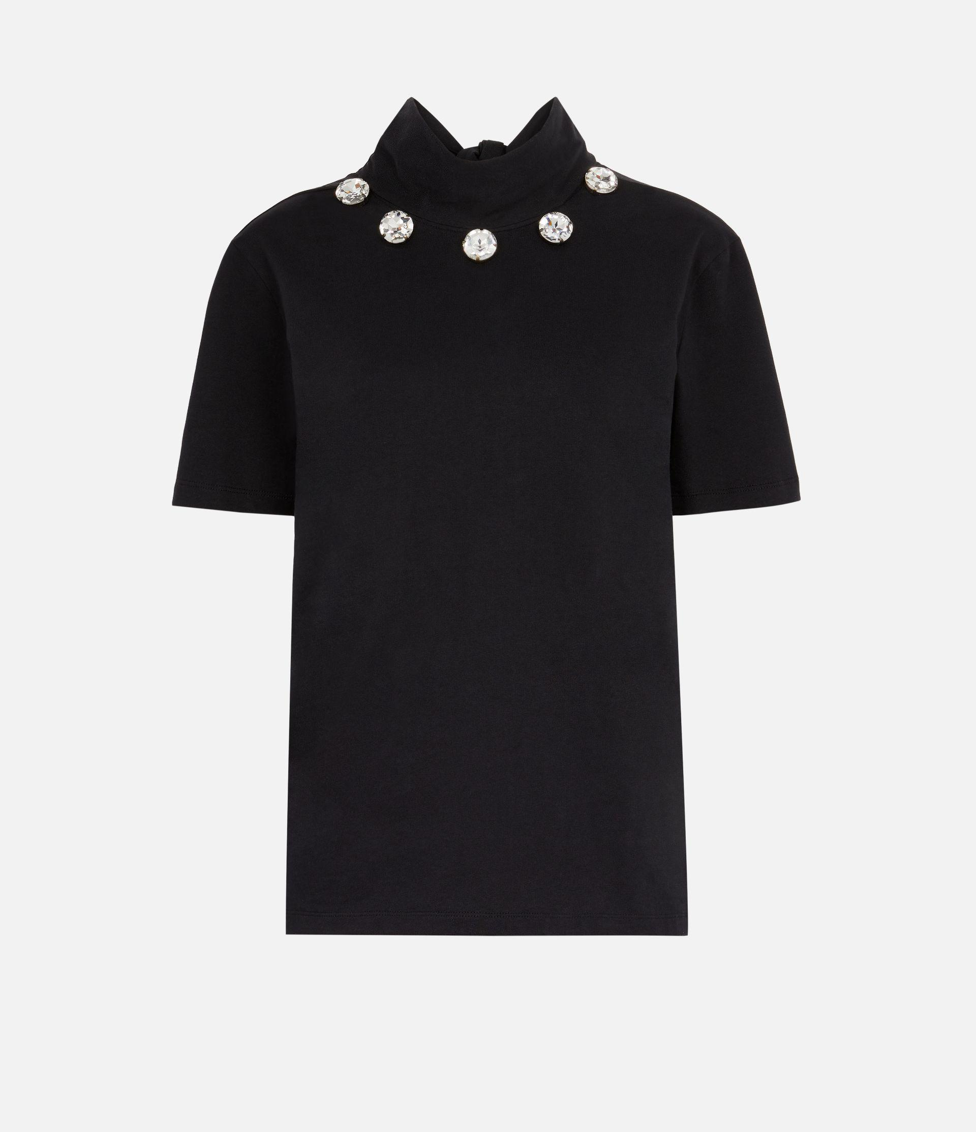 crystal tie neck t-shirt 3