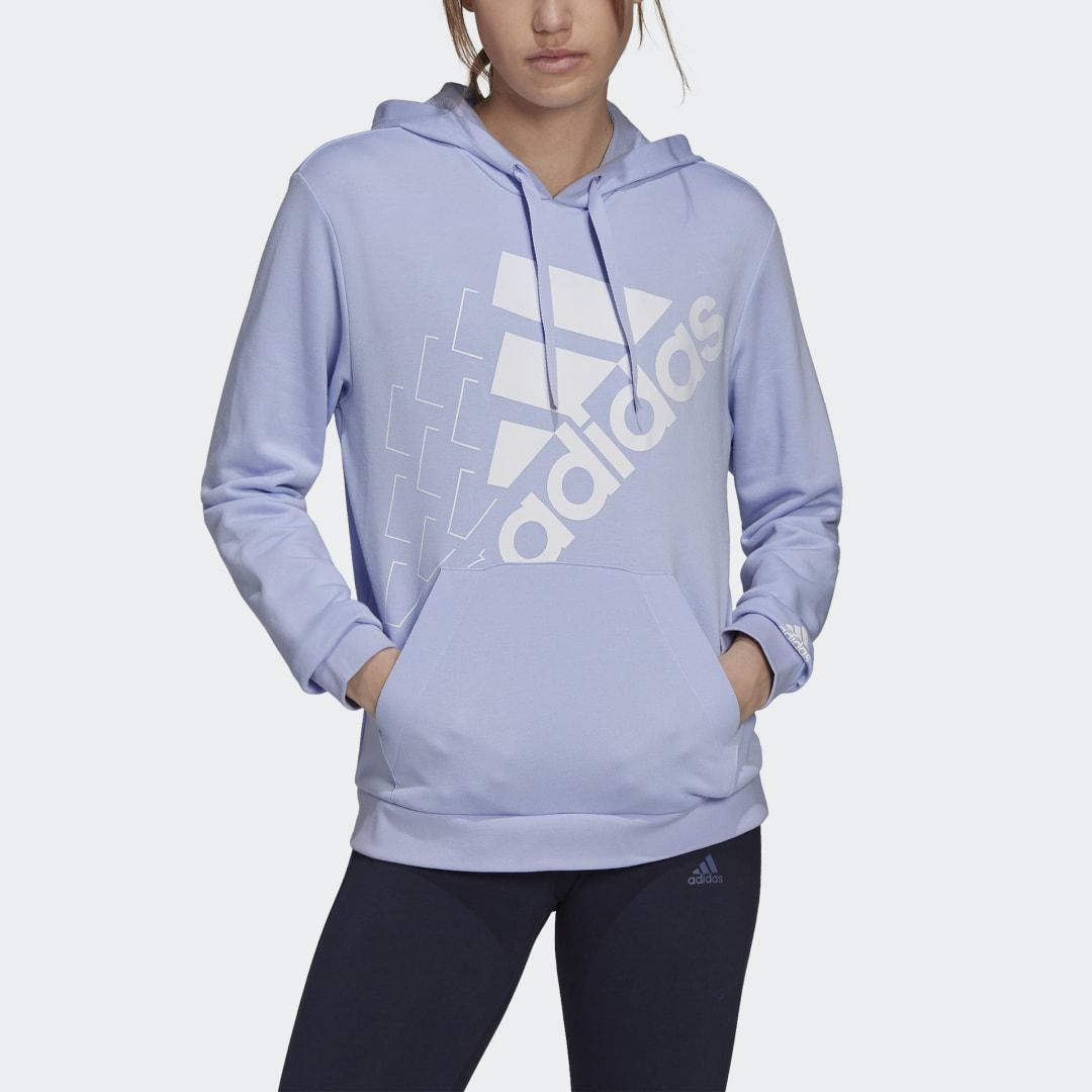 Brand Love Slanted Logo Relaxed Hoodie Violet Tone 2