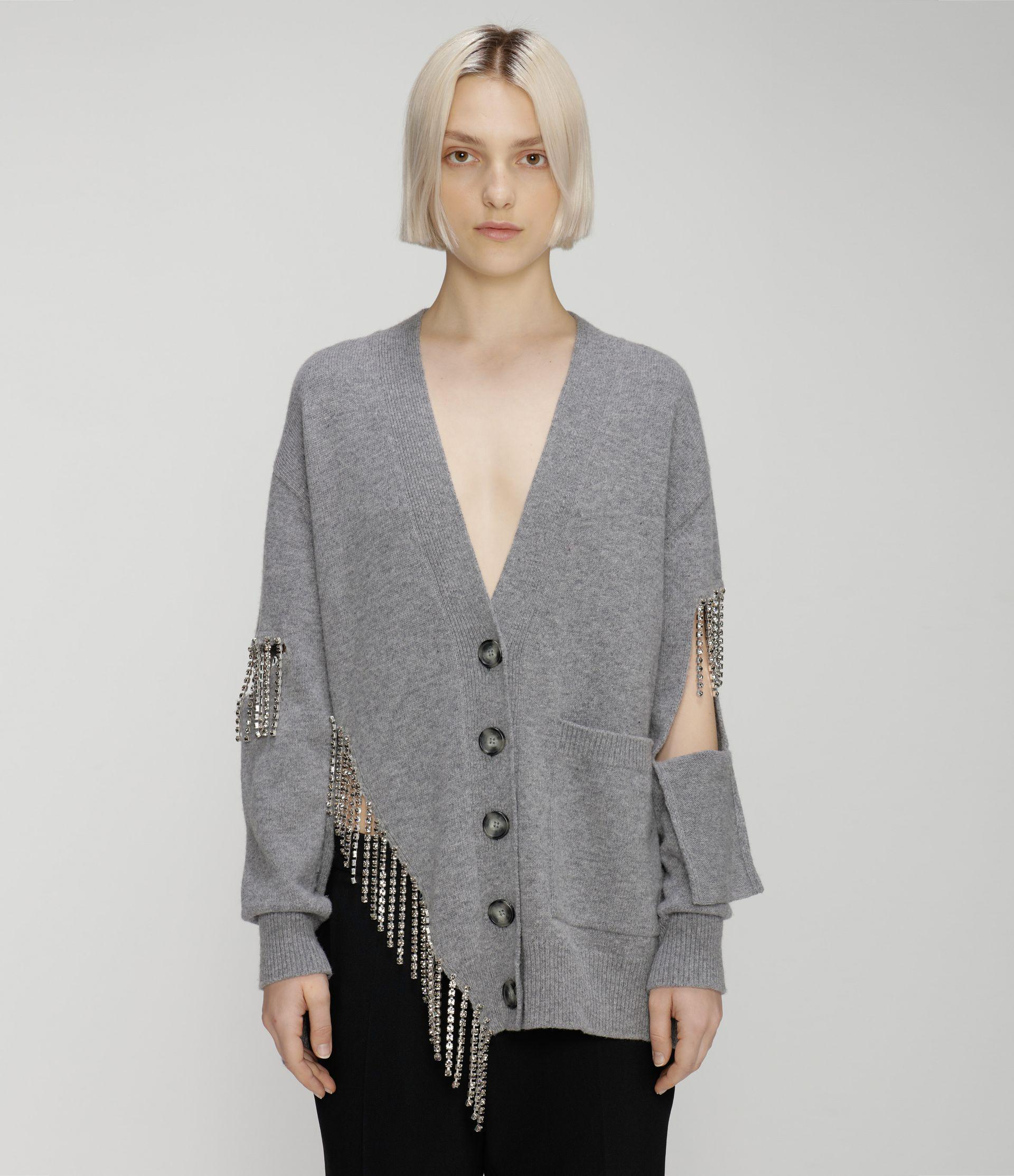 cut-out cupchain knitted cardigan