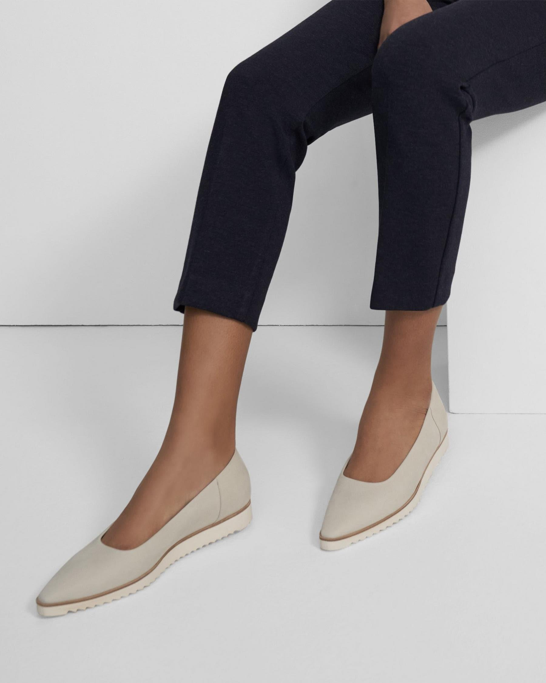 Sport Flat in Leather