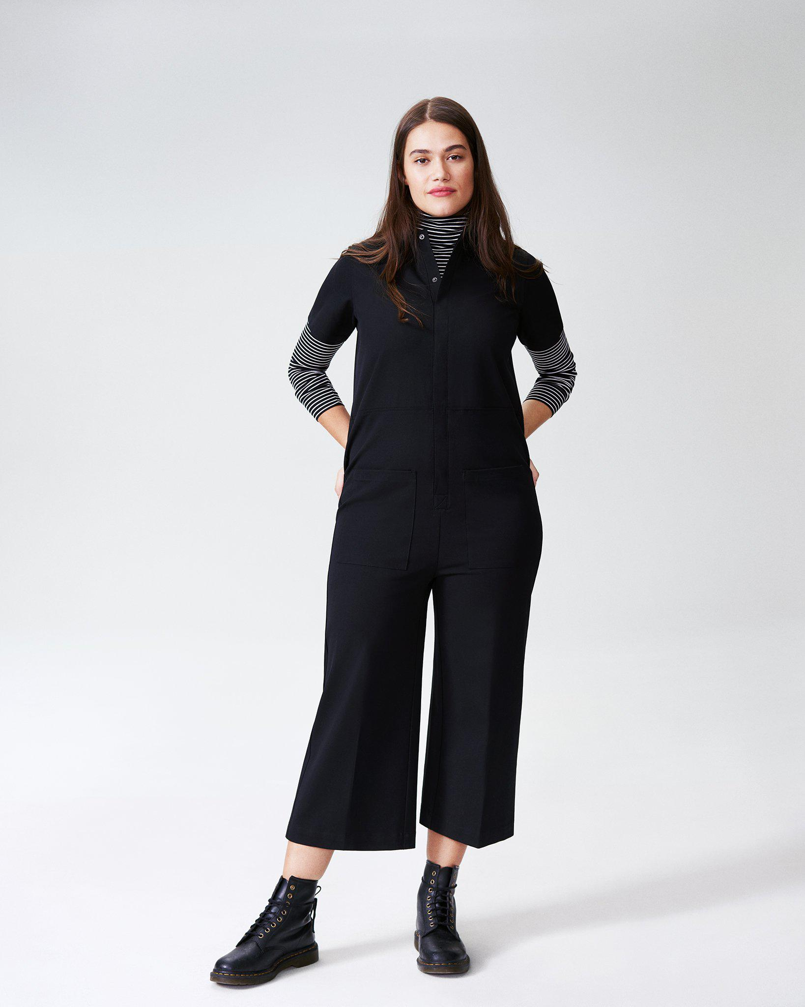 Kate Stretch Cotton Twill Jumpsuit
