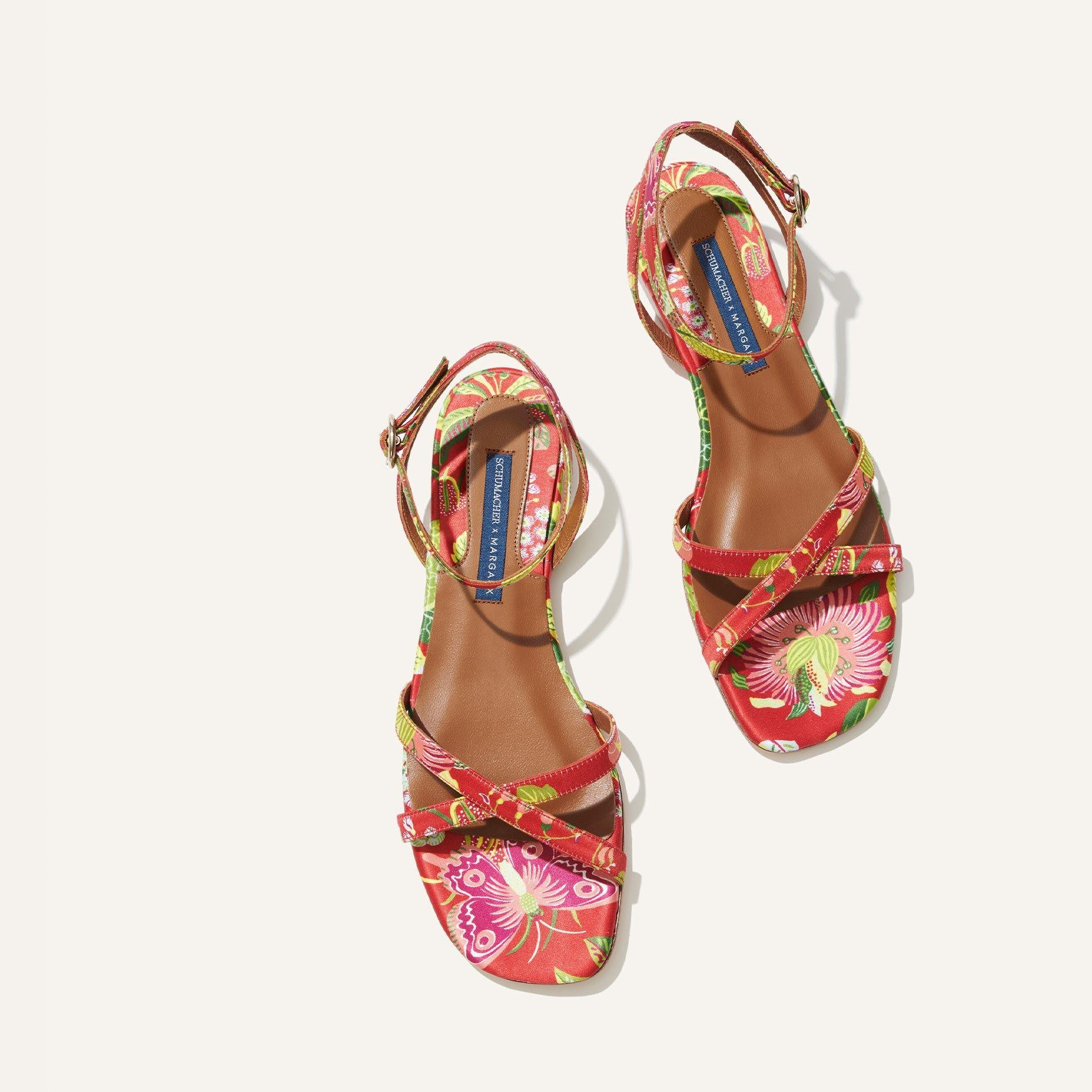 Schumacher x Margaux - The Flat Sandal in Exotic Butterfly 2
