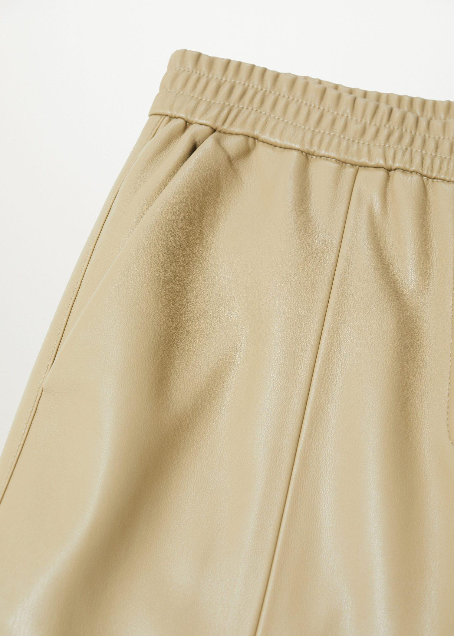 Leather-effect straight trousers 6