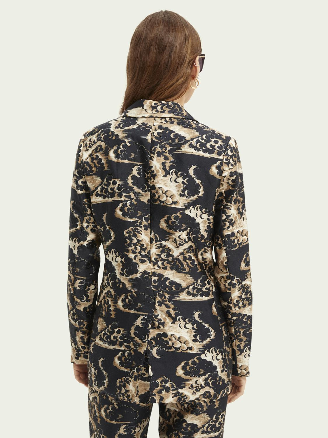 Printed double-breasted blazer 2