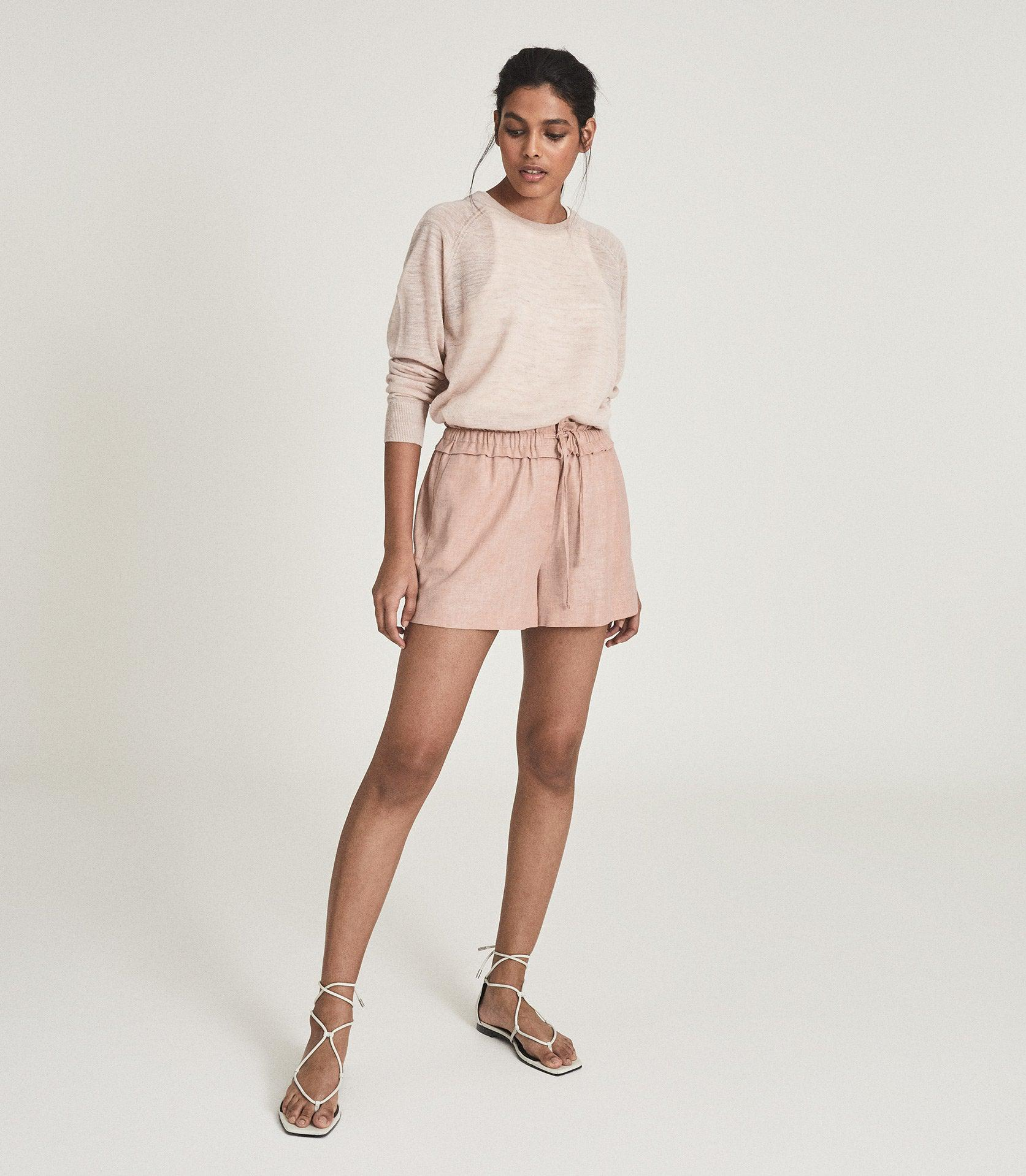 LACEY - LINEN BLEND DRAWCORD SHORTS