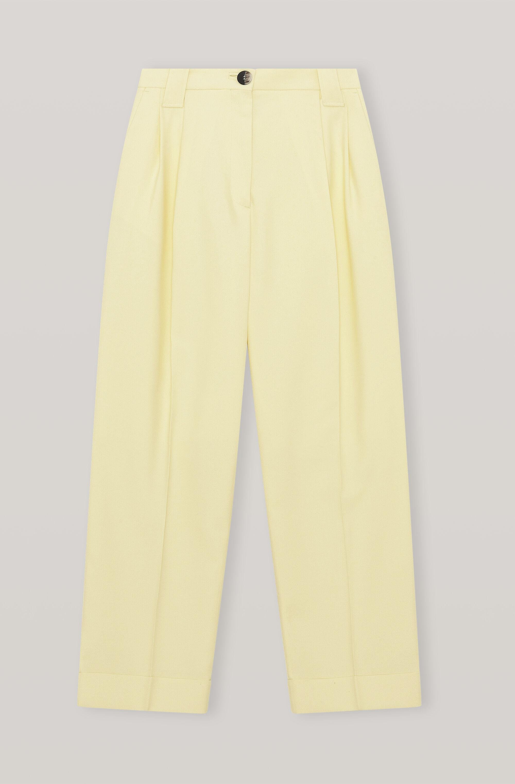 Summer Suiting Pleated Straight Trousers 4