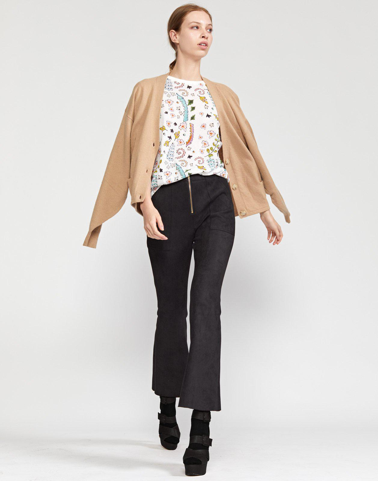 Nadia Stretch Faux-suede Flared Pant 3