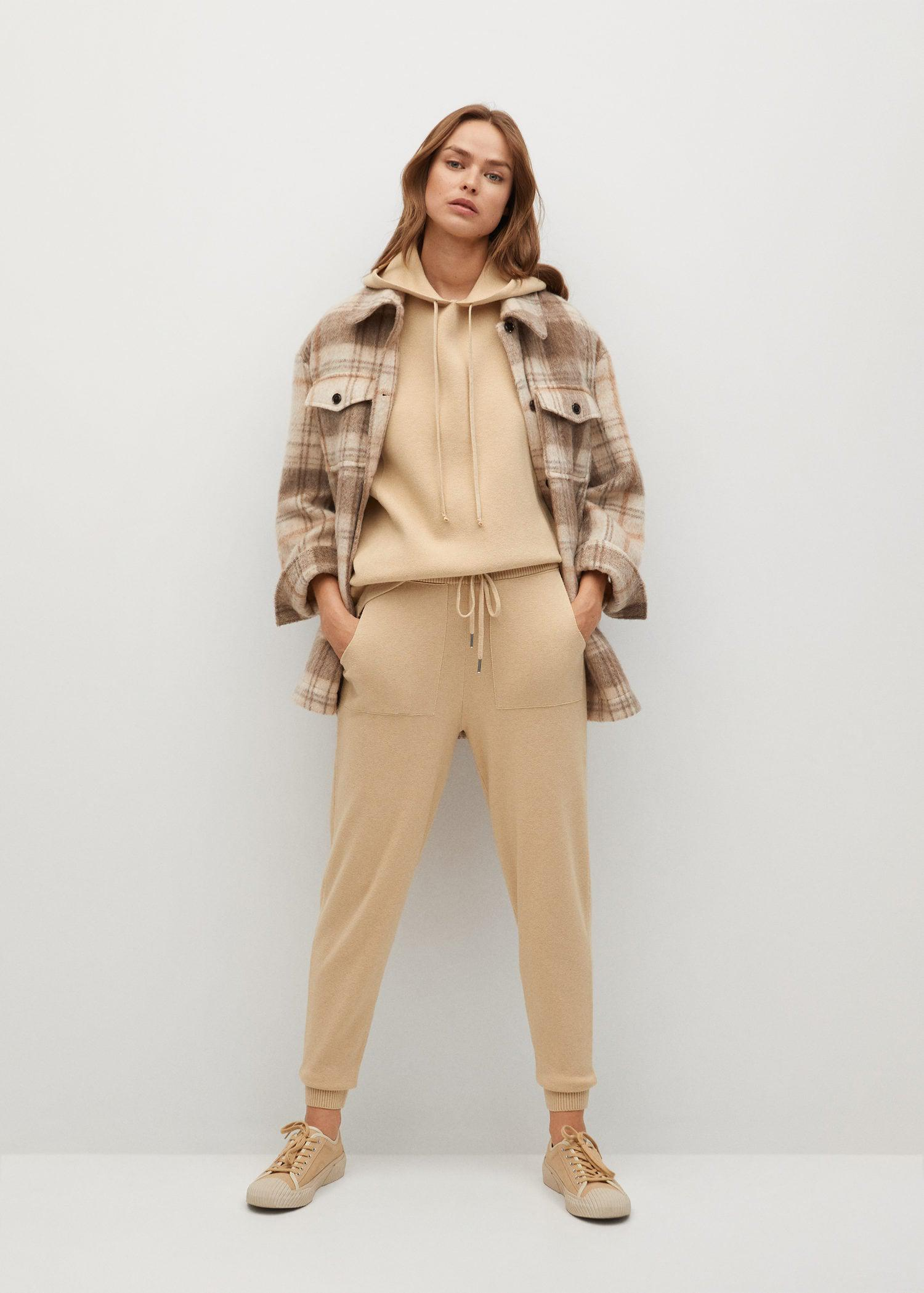 Knit jogger-style trousers 1