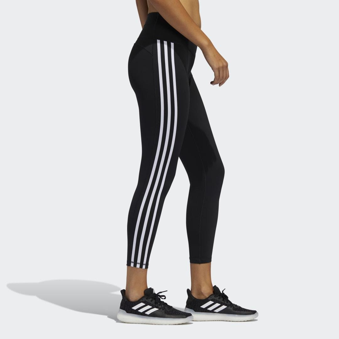 Believe This 2.0 3-Stripes 7/8 Tights Black 4