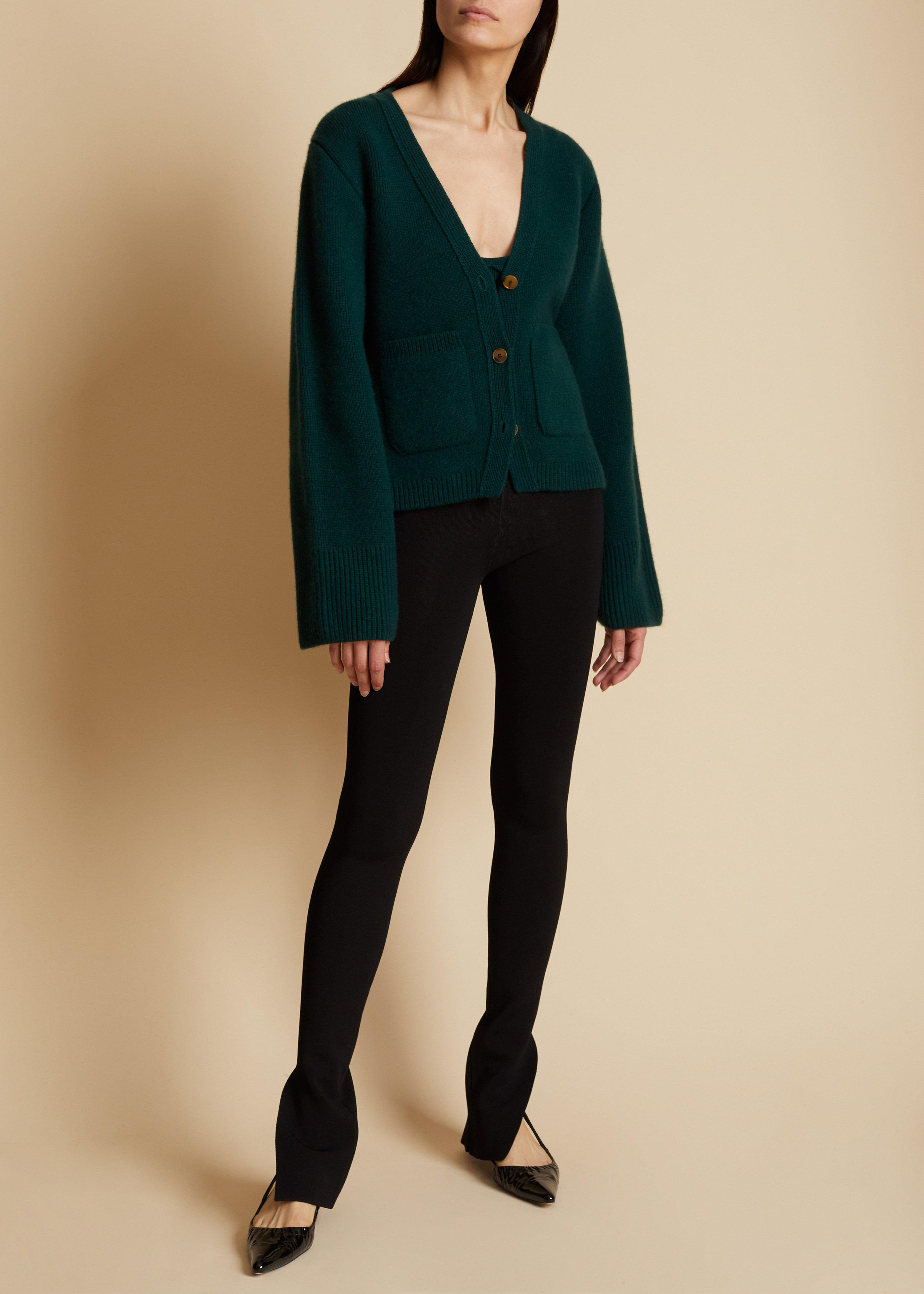 The Scarlet Cardigan in Evergreen 1