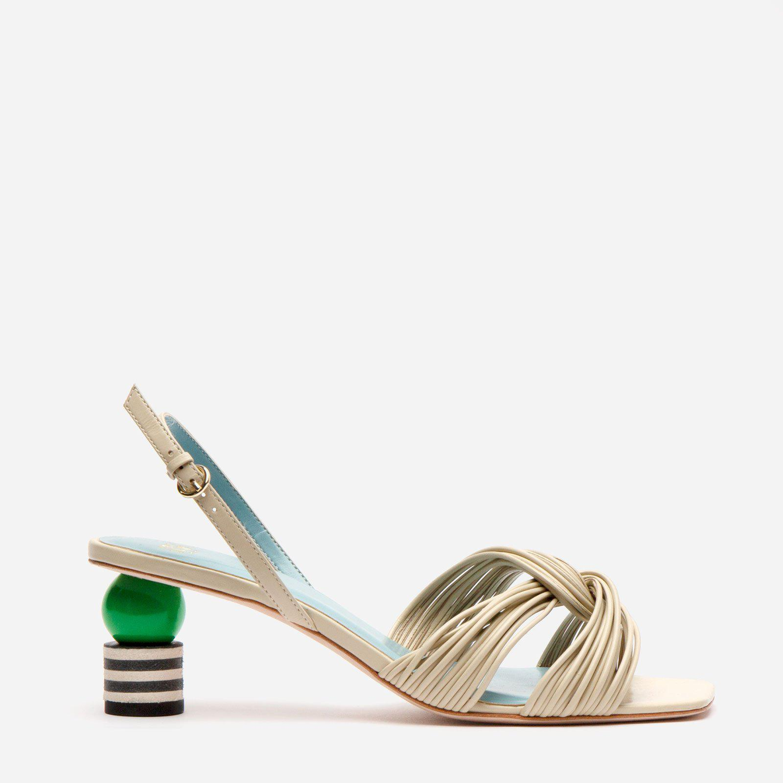 Alison Leather Slingback Oyster