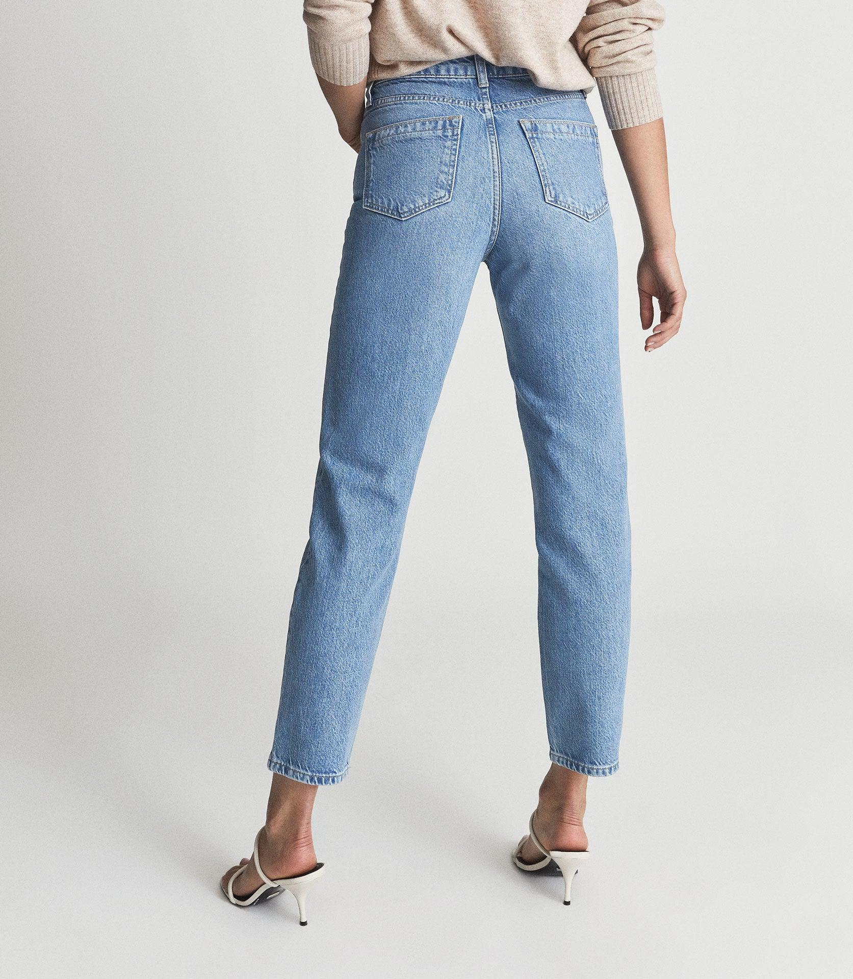 RAYE - HIGH RISE SLIM STRAIGHT FIT JEANS 2