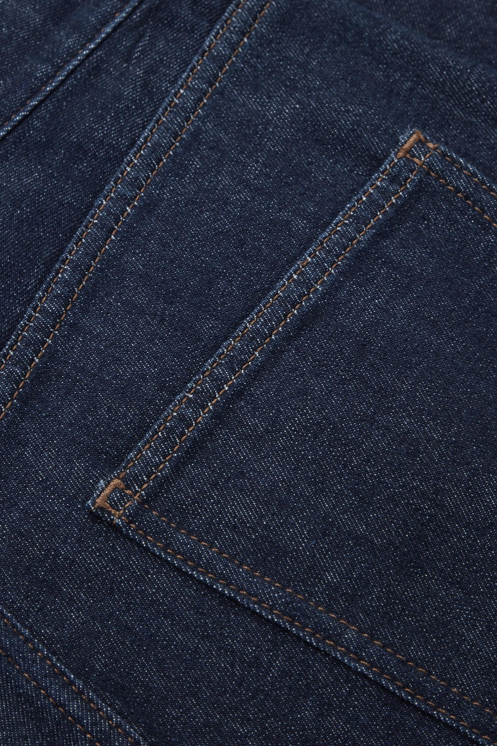 FLARED RECYCLED COTTON DENIM PANTS 9