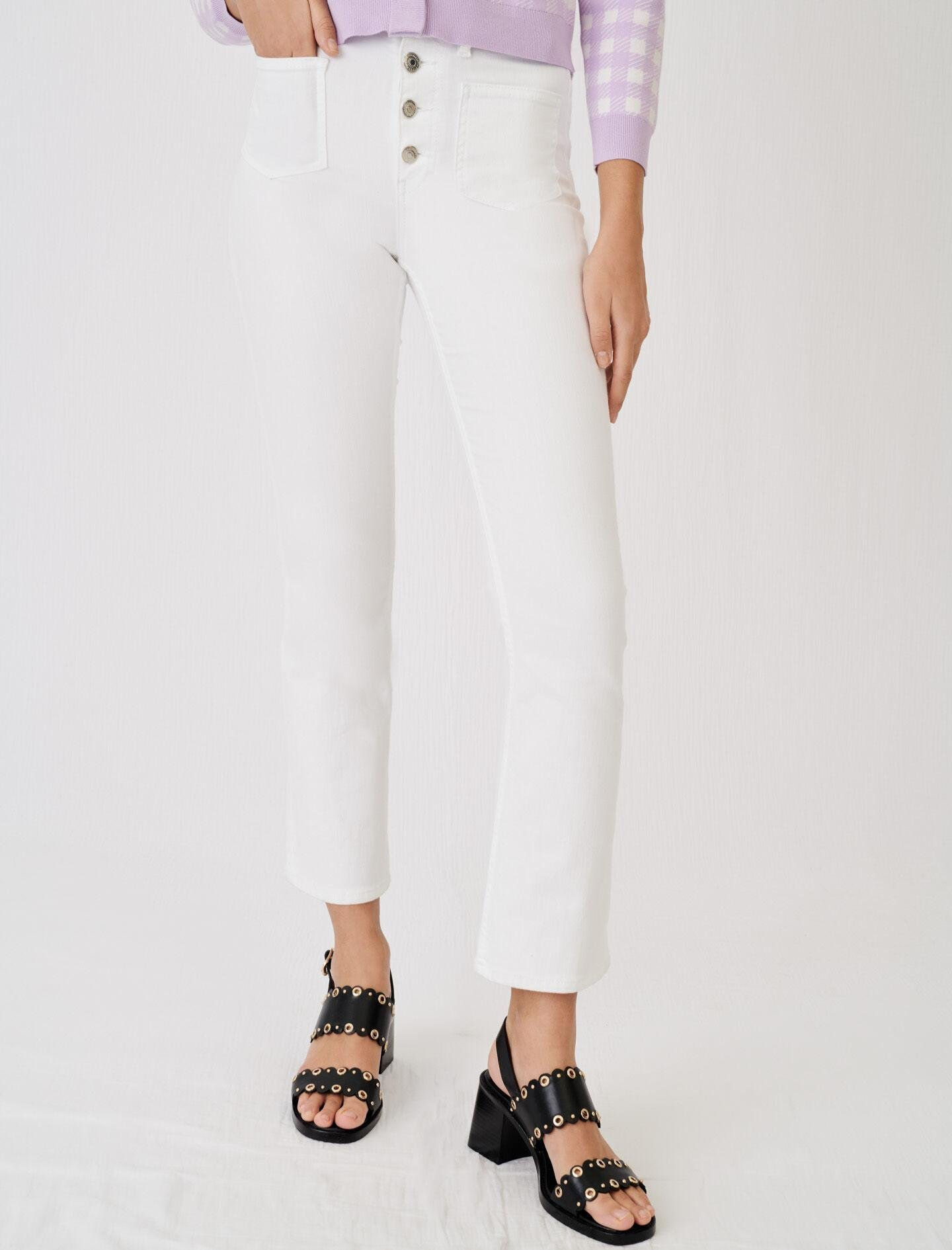 FLARED JEANS WITH POCKETS AND BUTTONS 1