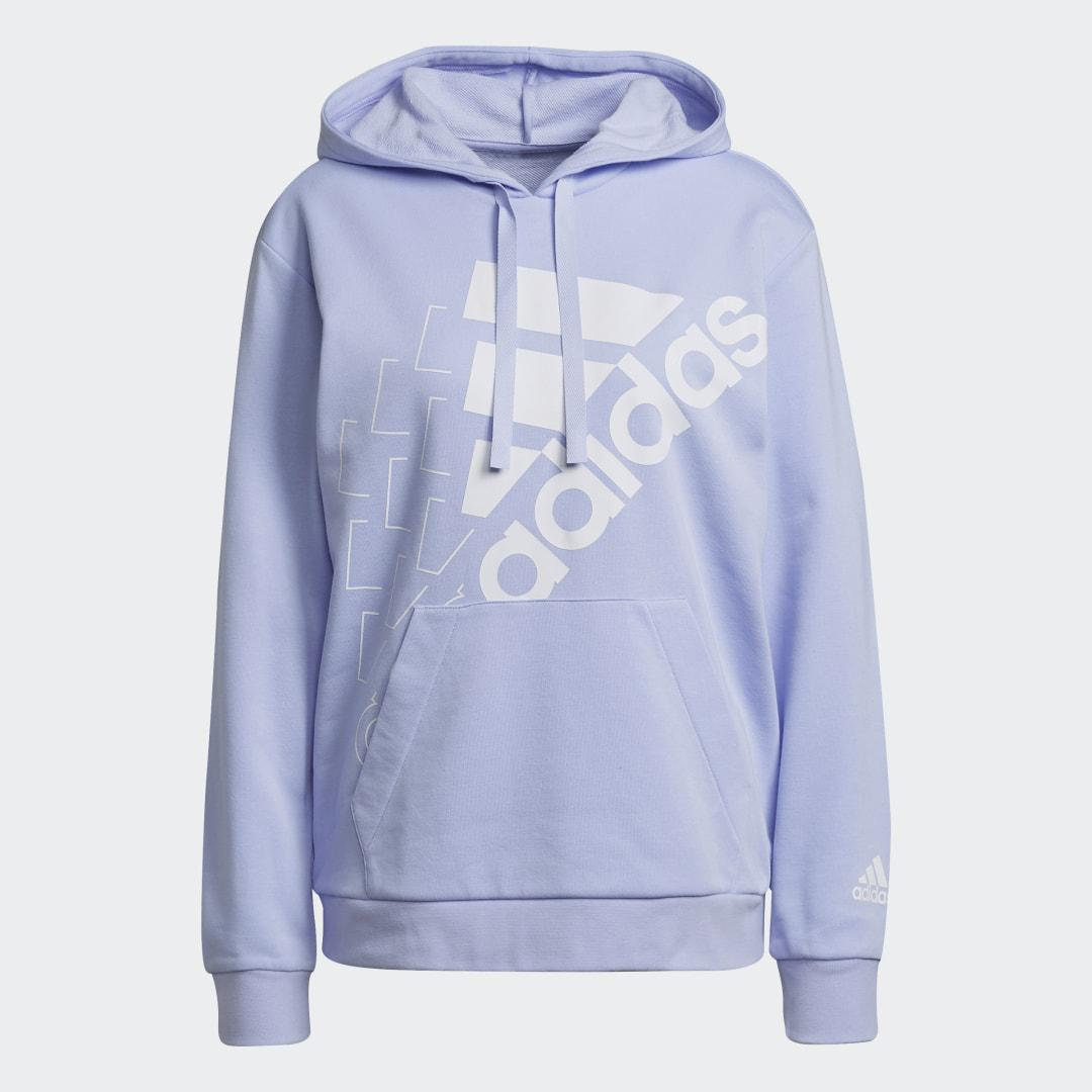 Brand Love Slanted Logo Relaxed Hoodie Violet Tone 6