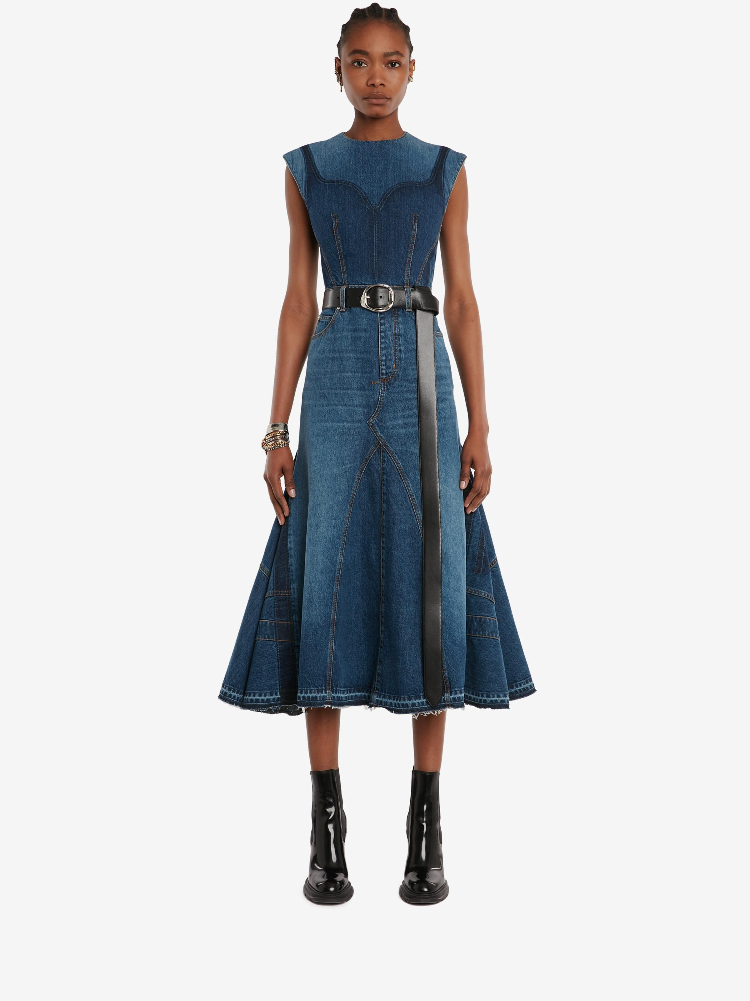 Pieced and Reconstructed Midi Dress