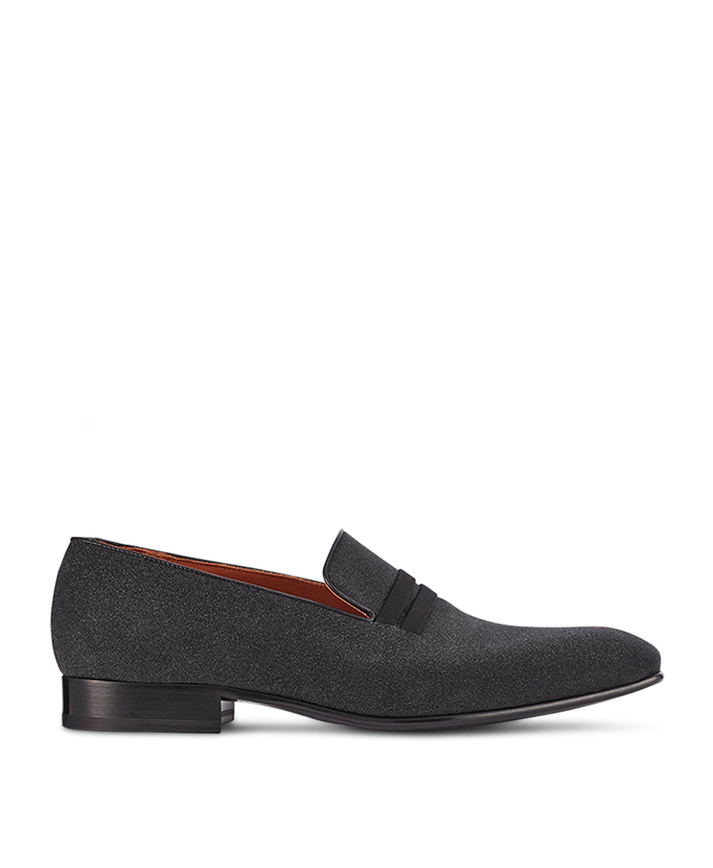 MILES BLACK GLITTER LOAFERS