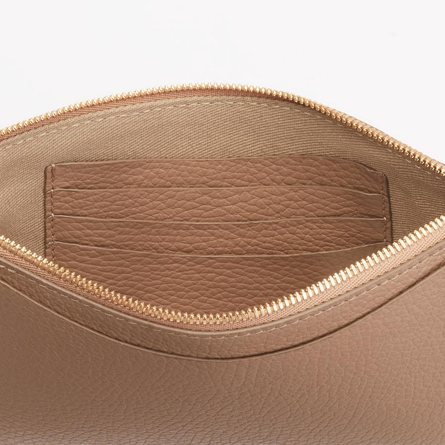 Women's Slim Wristlet Wallet in Cappuccino | Pebbled Leather by Cuyana 3