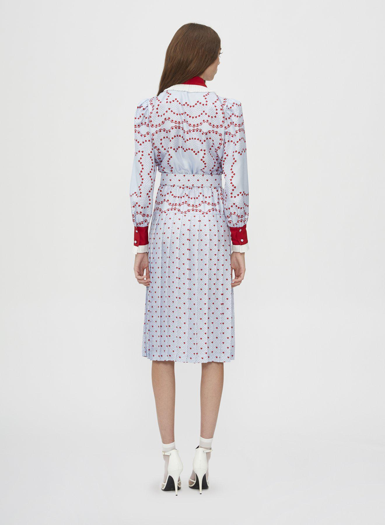 BELTED SILK PLEATED COLLAR DRESS 1
