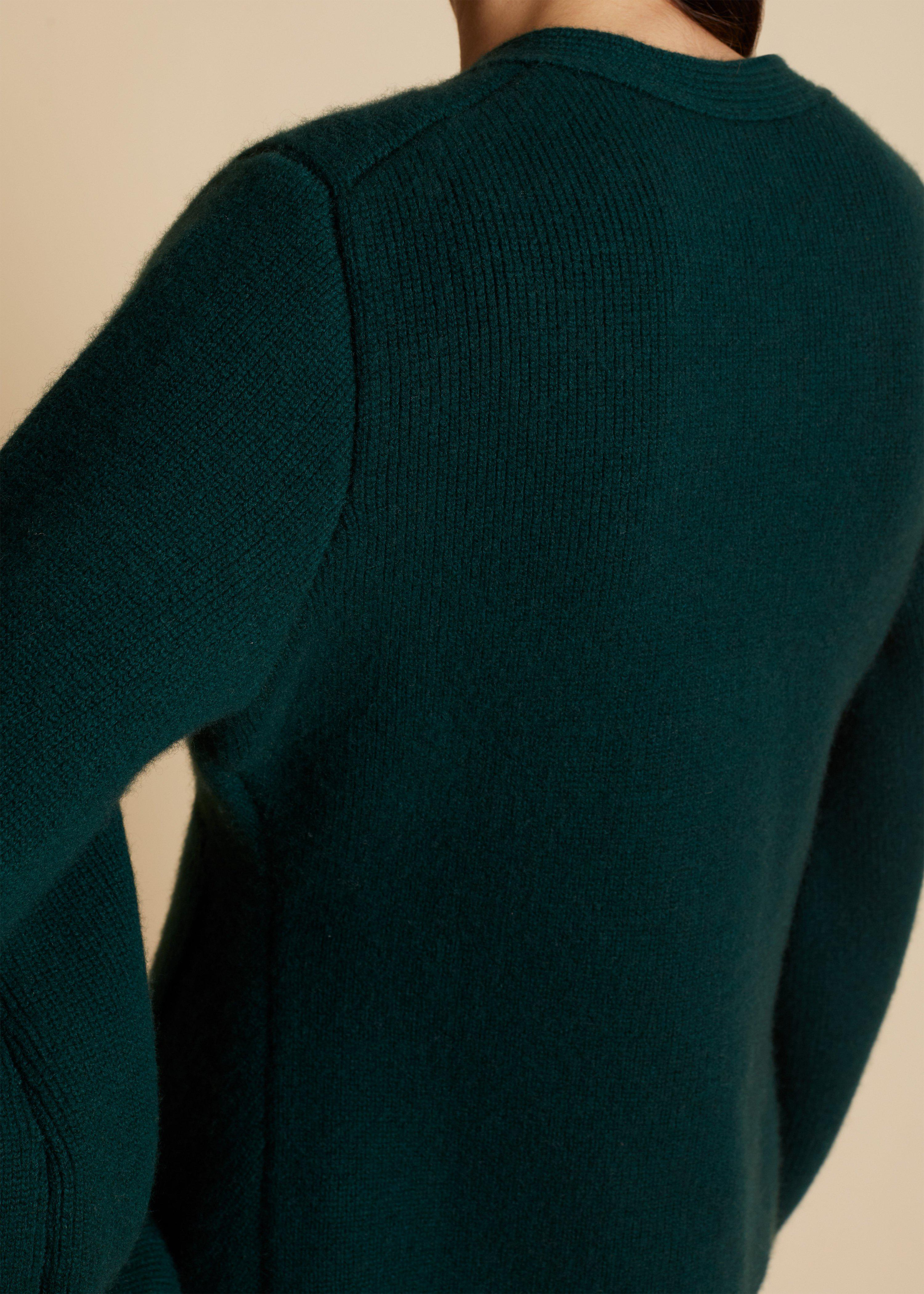 The Scarlet Cardigan in Evergreen 3