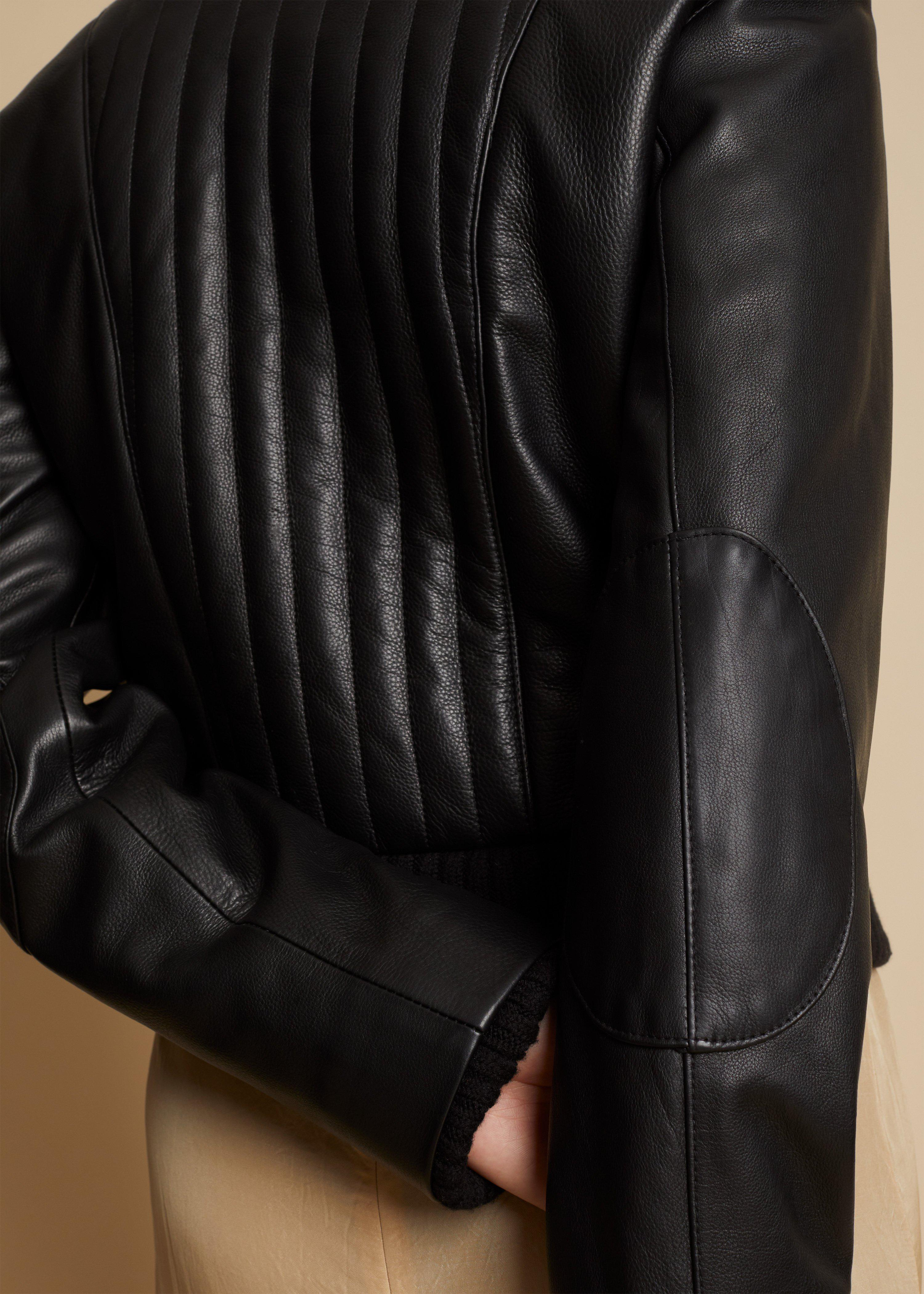 The Nicolette Jacket in Black Leather 6