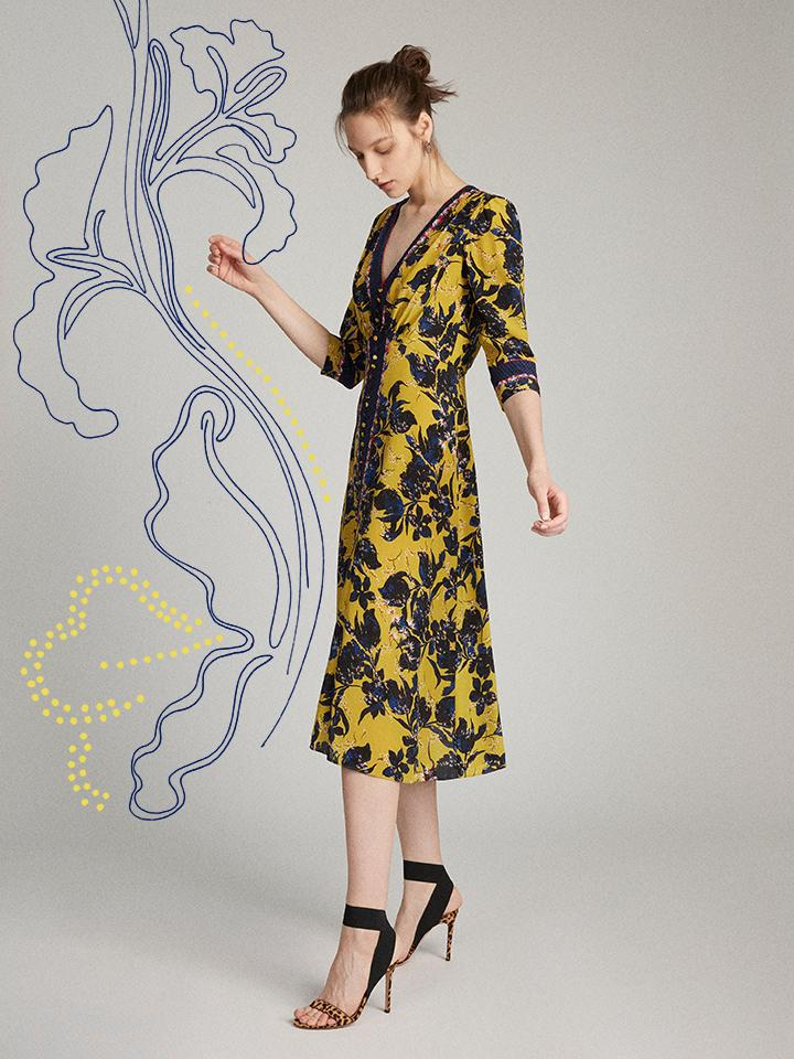 Eve Dress in Citronelle print