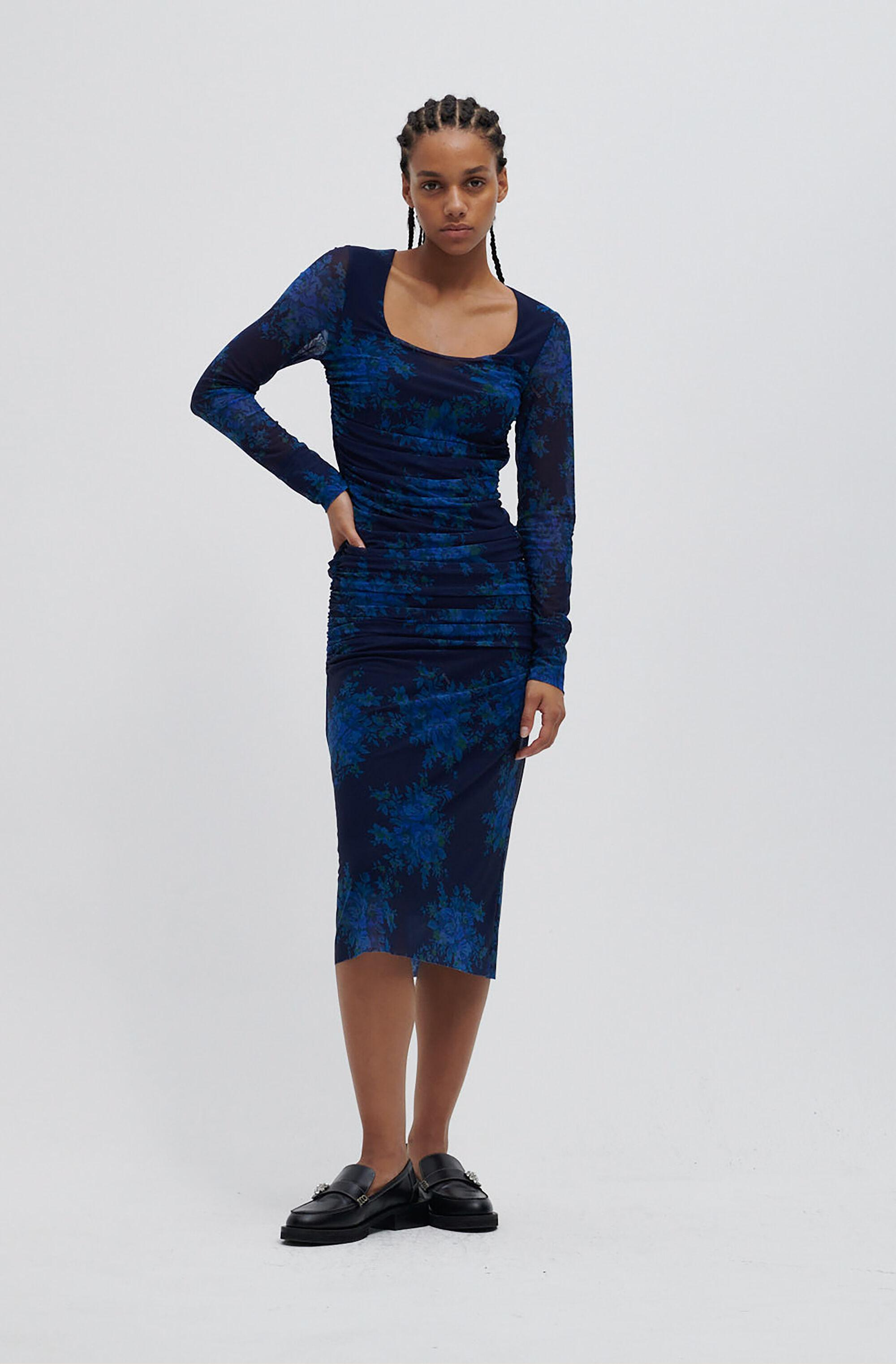 Recycled Ruched Midi Dress