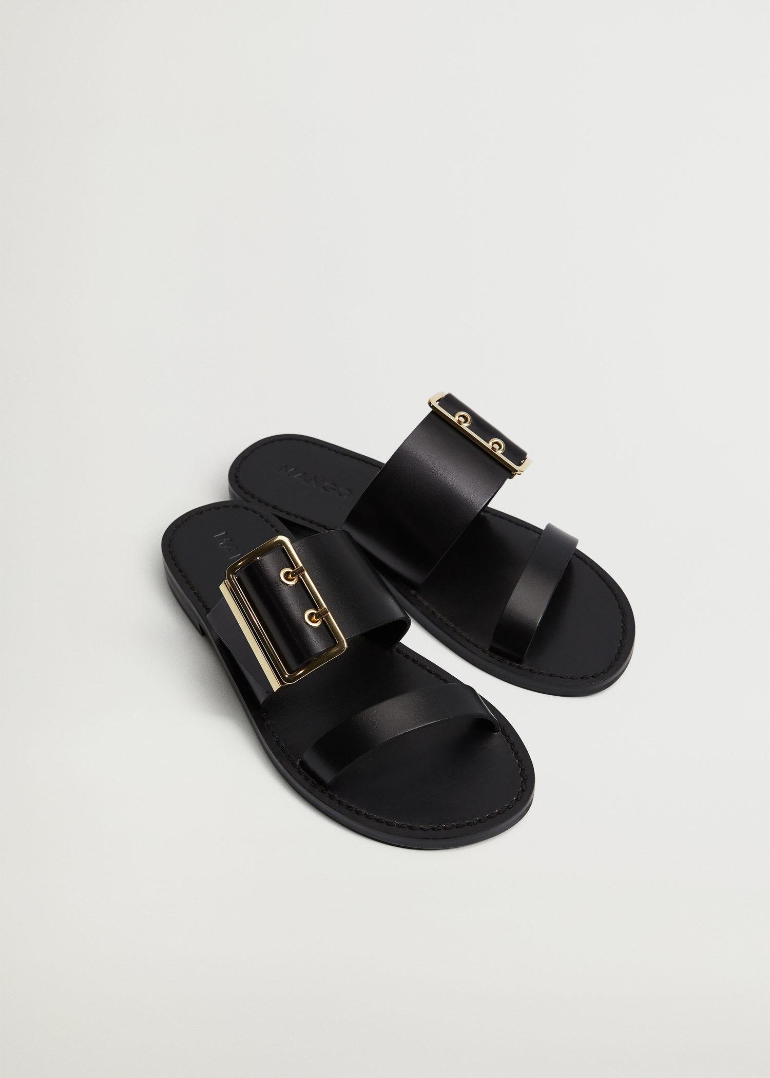 Buckle leather sandals 1