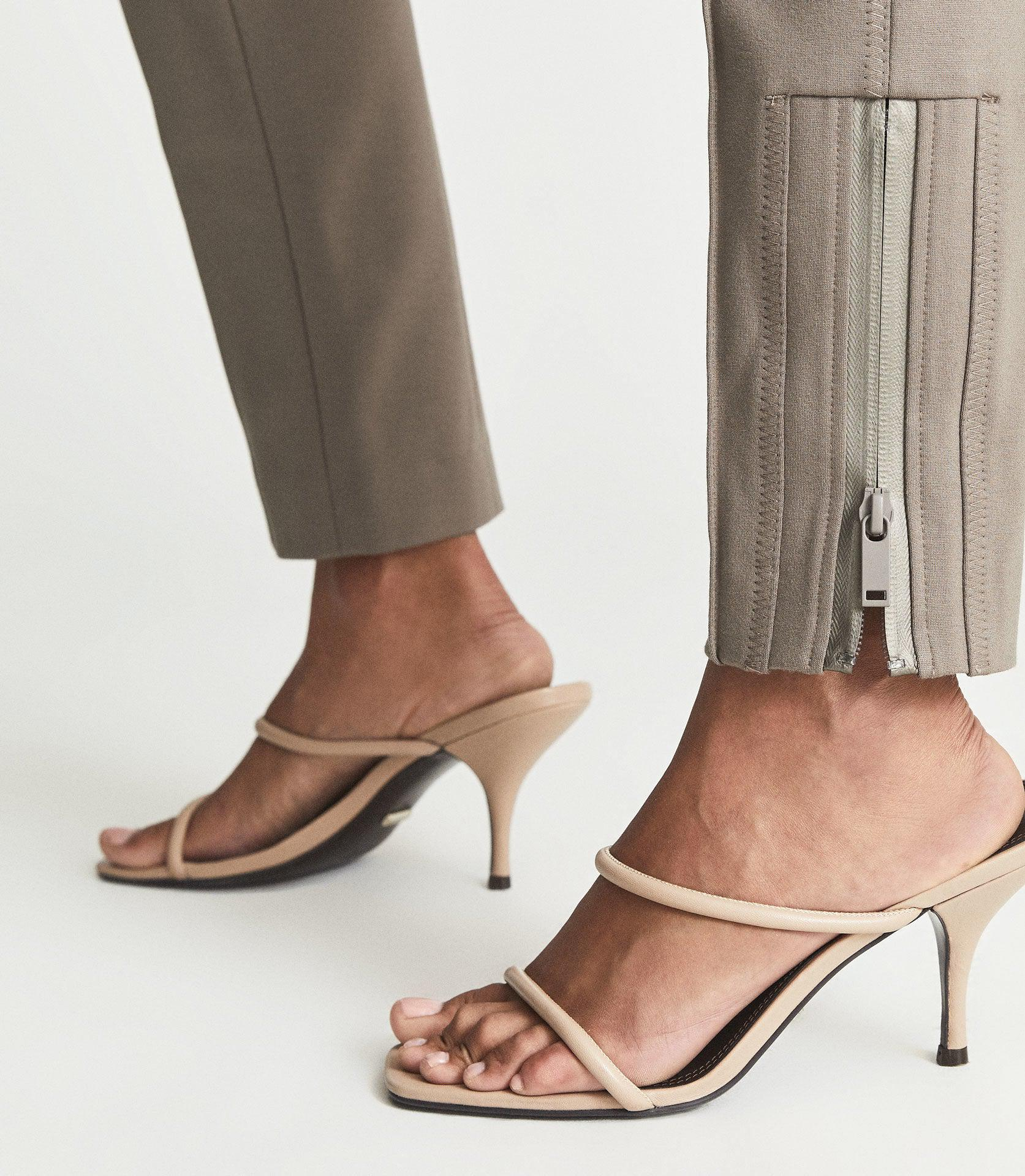 ISLA - PONTE TROUSERS WITH ZIP DETAIL 2