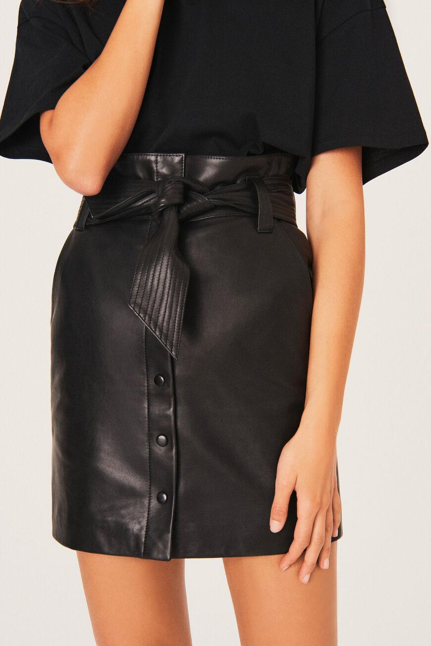 pam.LEATHER SKIRT