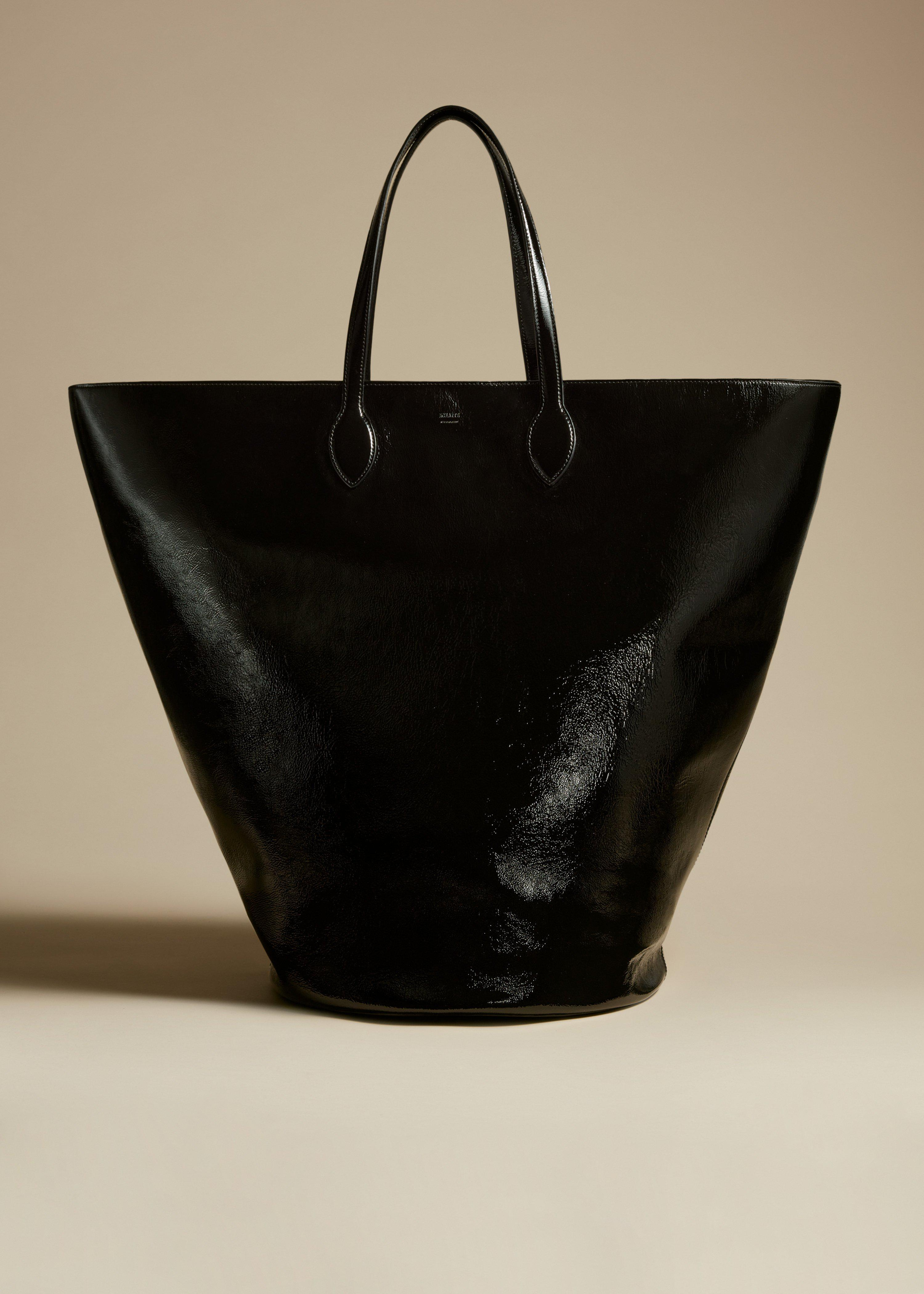 The Large Osa Tote in Black Patent Leather