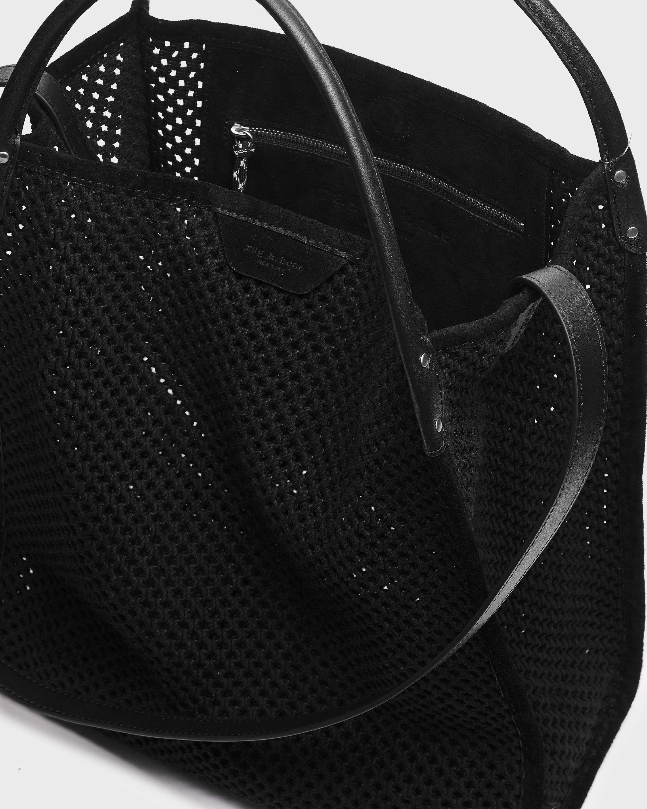 Summer passenger tote - leather and recycled materials 2