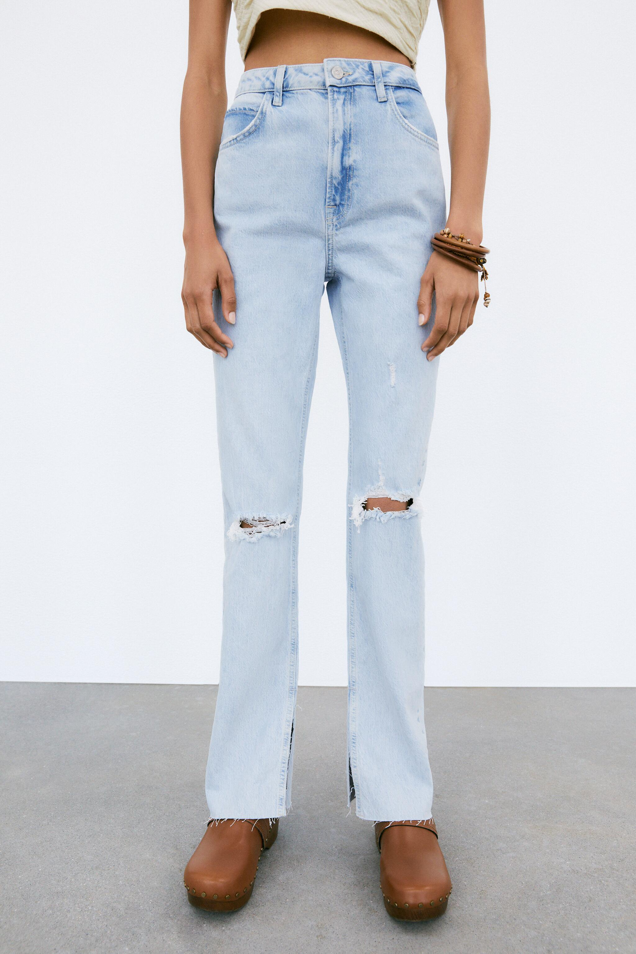 Z1975 FLARED RIPPED SLIM FIT JEANS 1