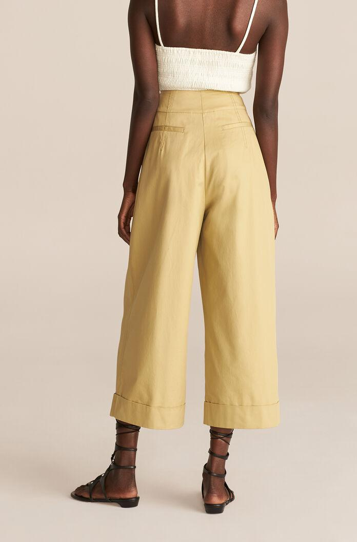 COMPACT TWILL FLARE PANT 3