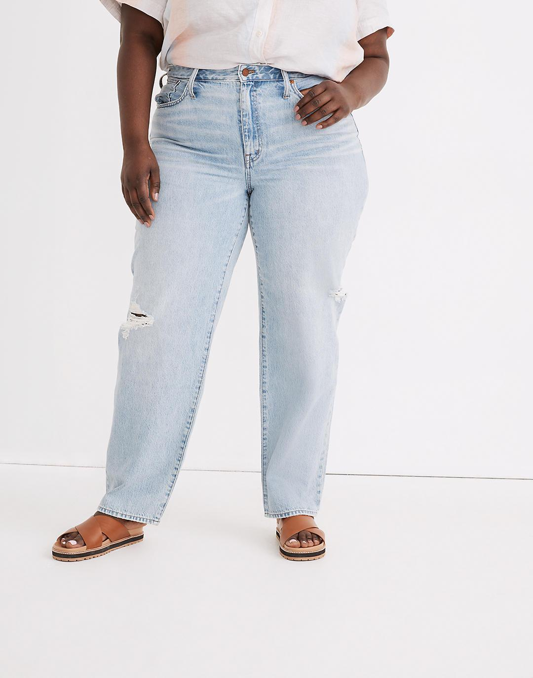 Plus Relaxed Jeans in Cresthaven Wash: Ripped Edition 3