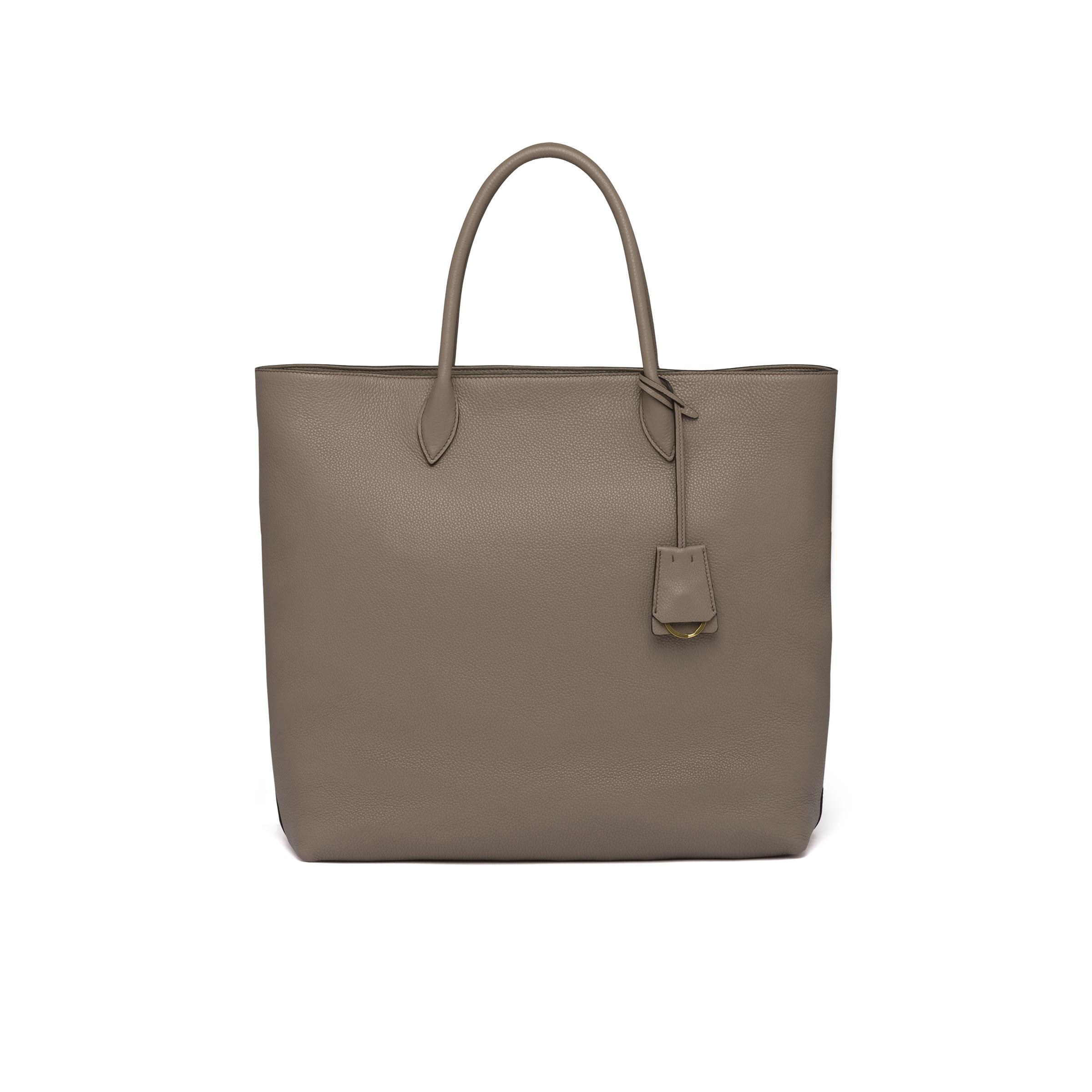 Leather Tote Women Clay Gray 3