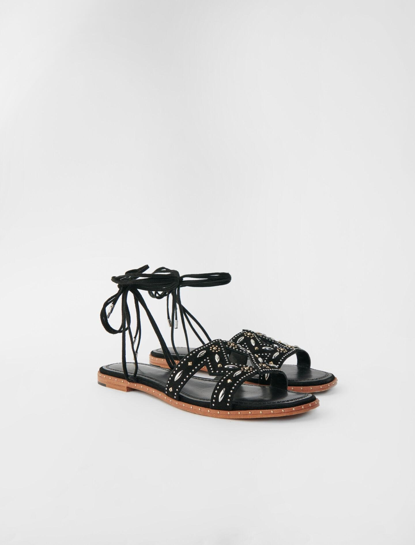 FLAT TIE SANDALS WITH STUDS 1