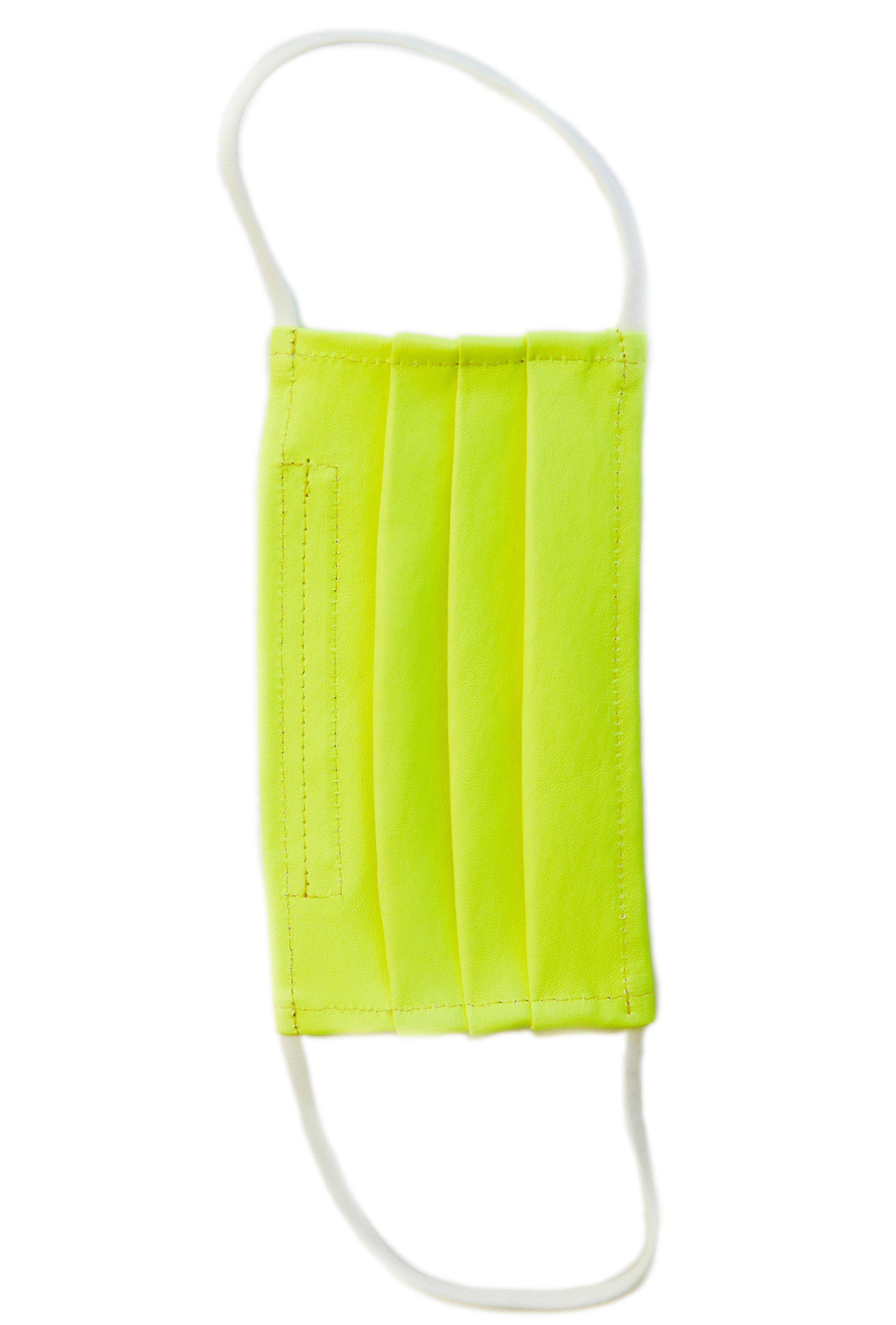 Neon Leather Face Mask