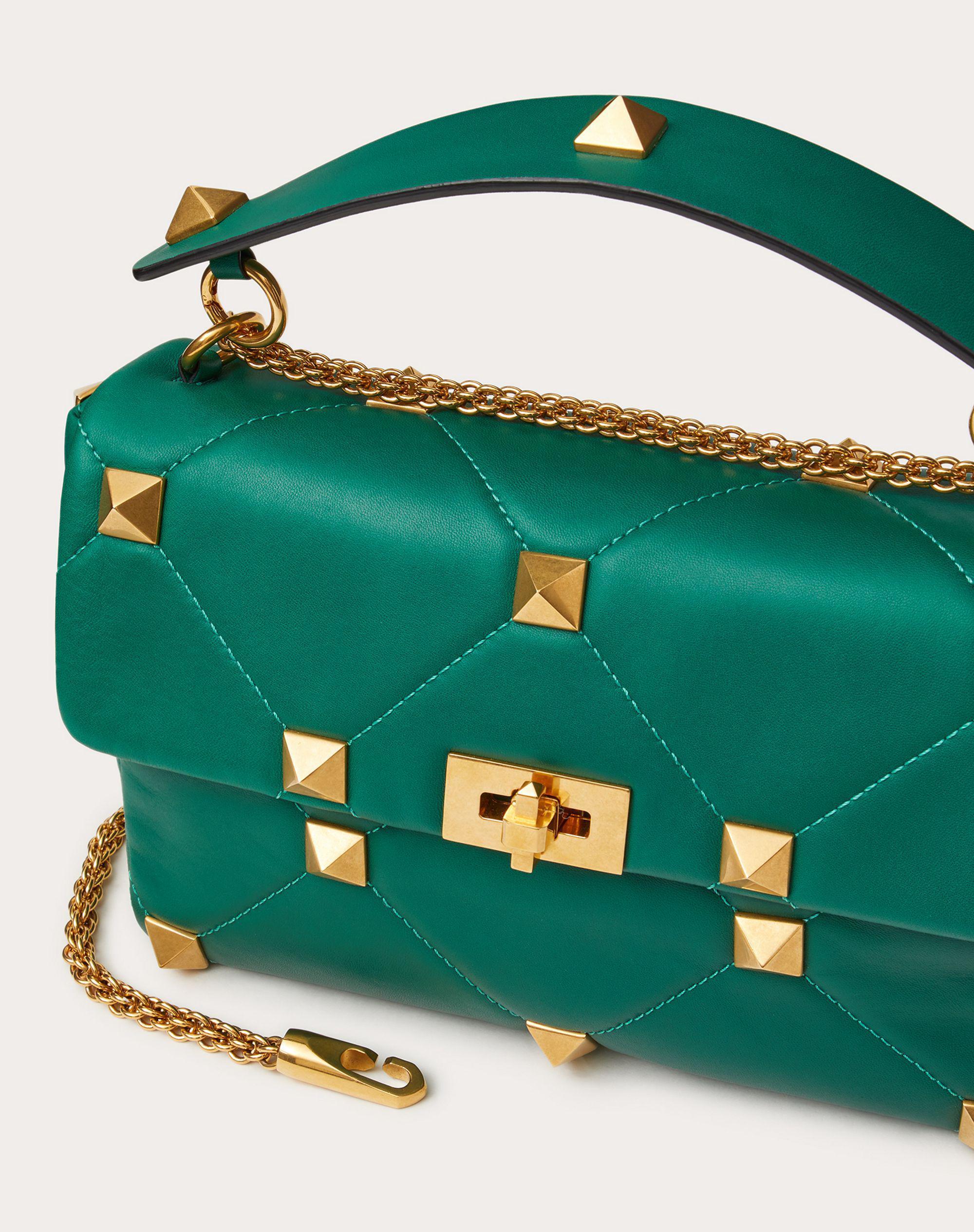 Large Roman Stud The Shoulder Bag in Nappa with Chain 4