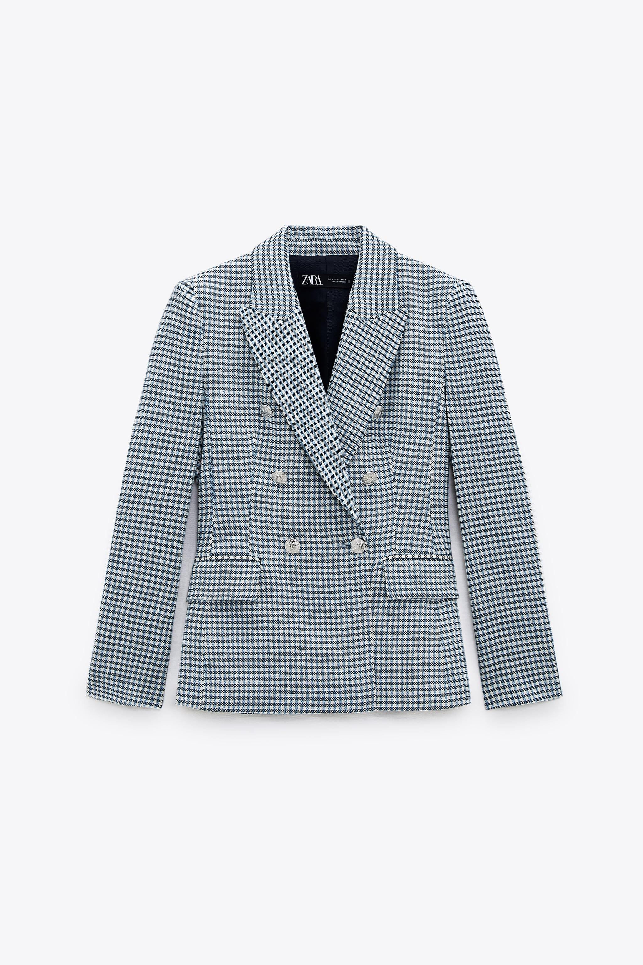 DOUBLE BREASTED HOUNDSTOOTH BLAZER 6
