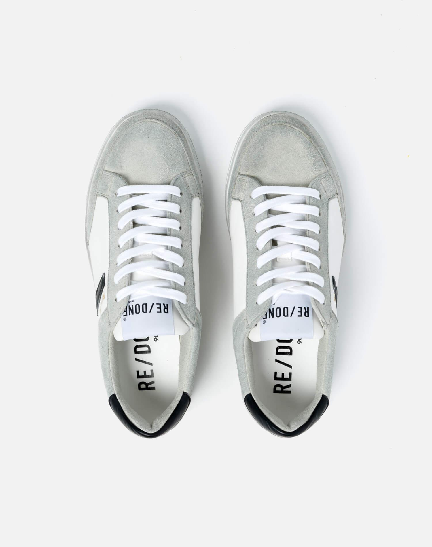 90s Sustainable Skate Shoe - White and Black 2