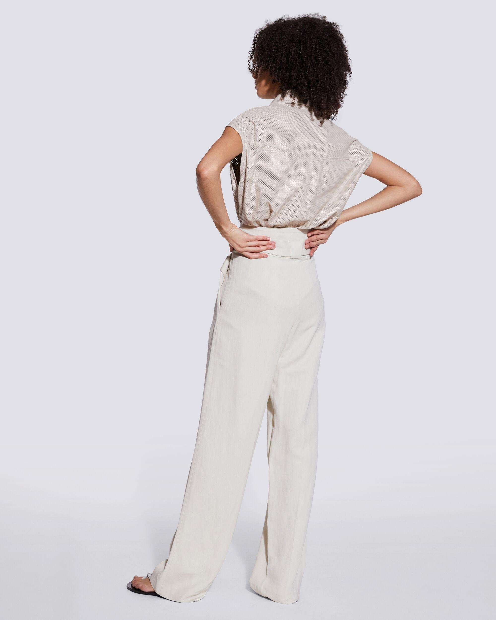 APOLLONIA BELTED WIDE LEG TROUSERS 2