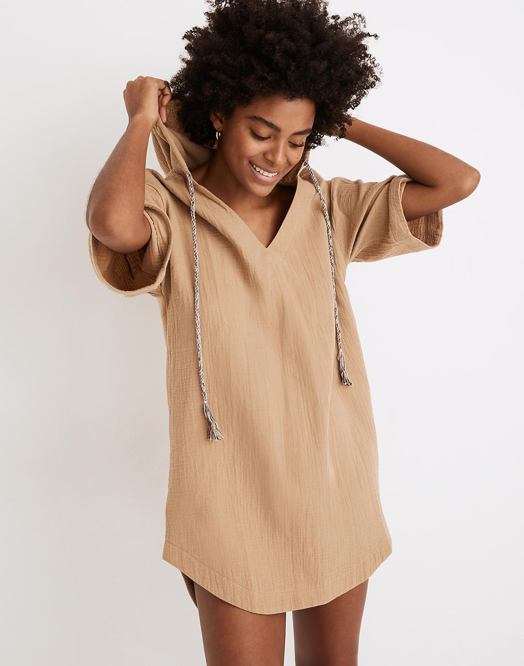 Hooded Cover-Up Tunic Dress