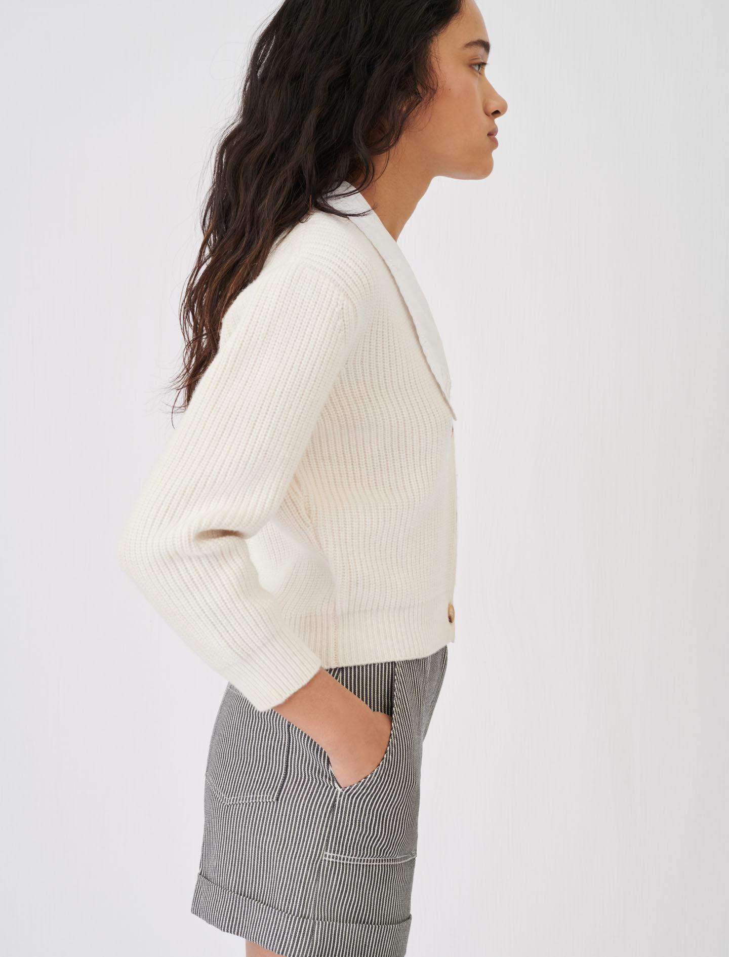 CROPPED CARDIGAN WITH LARGE COLLAR 3