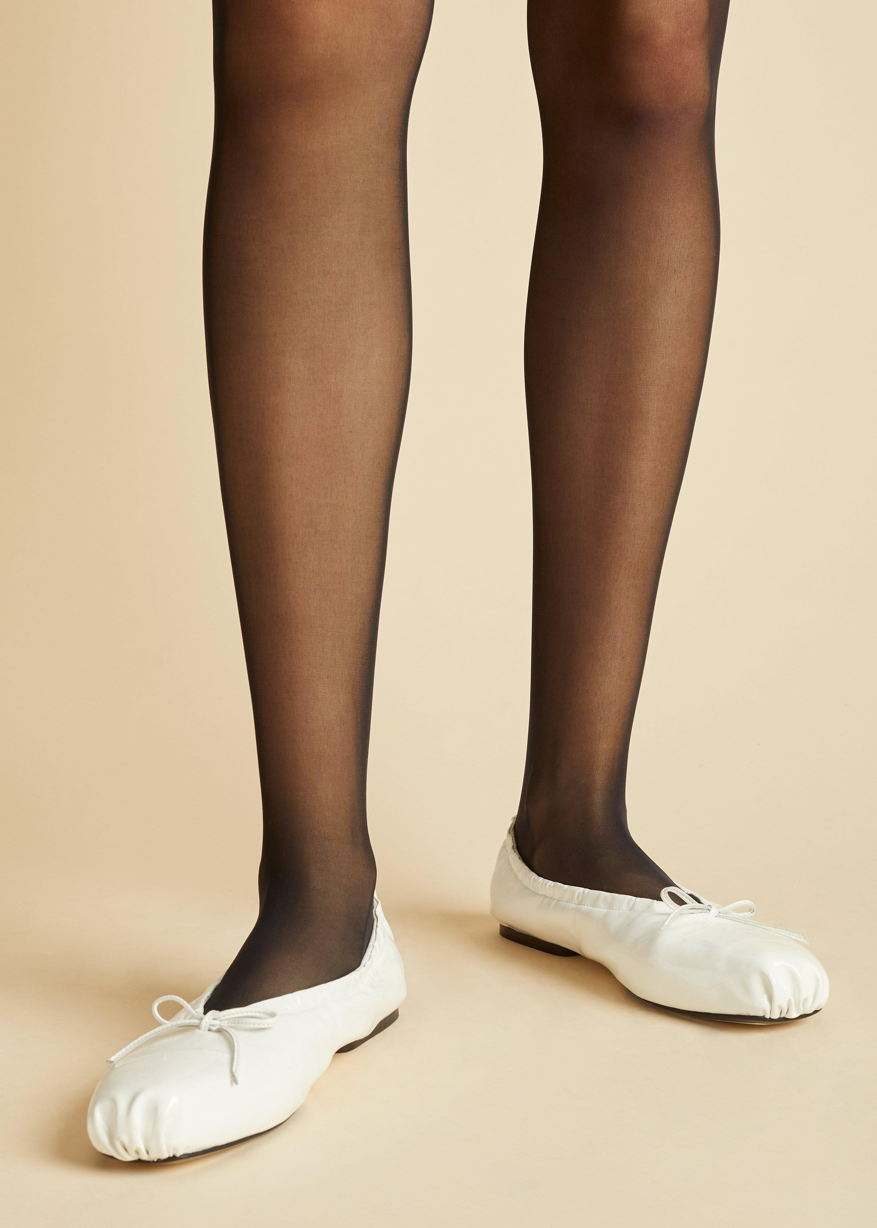 The Ashland Ballet Flat in White Patent Leather 4