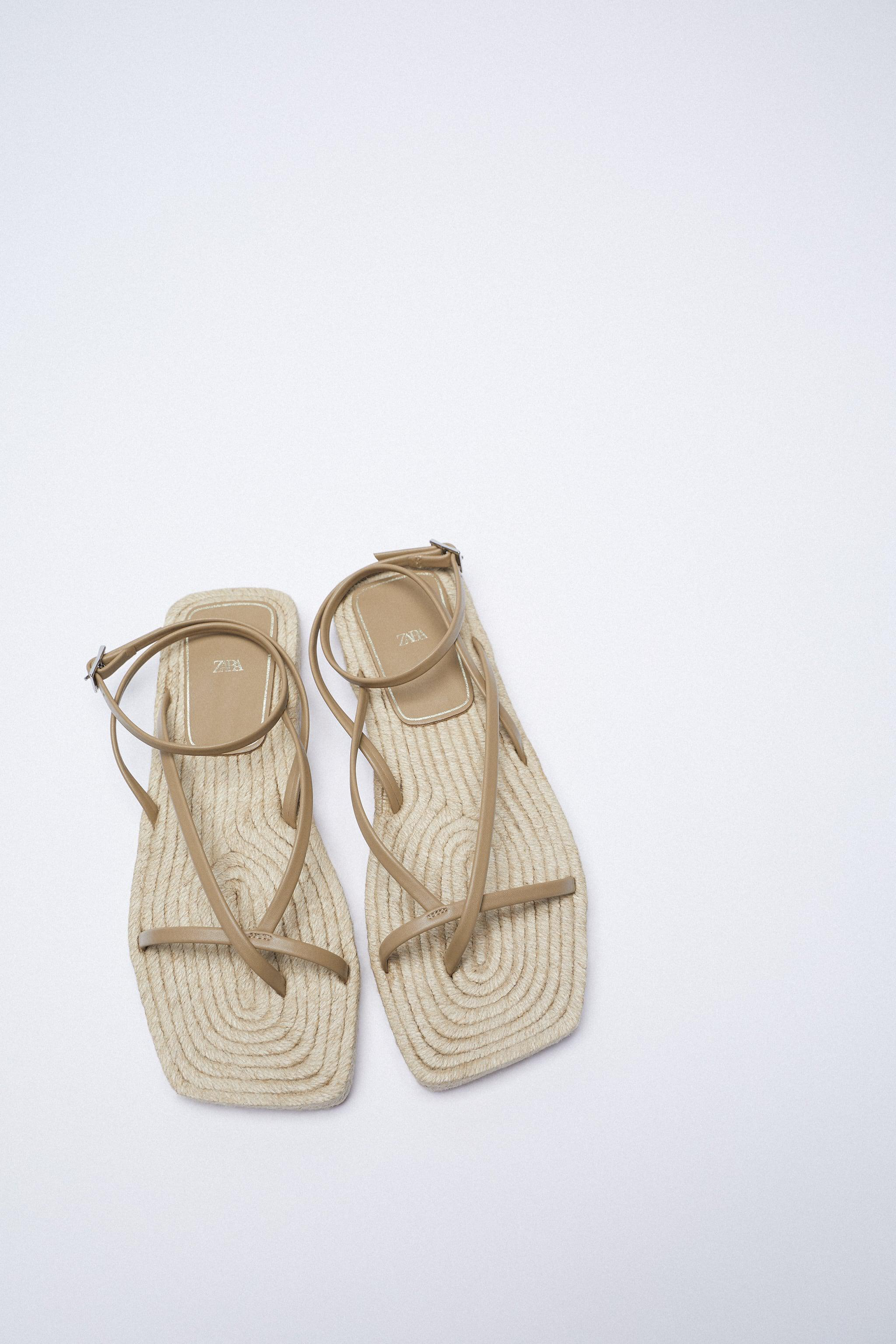 CHUNKY STRAPPY JUTE SANDALS 6