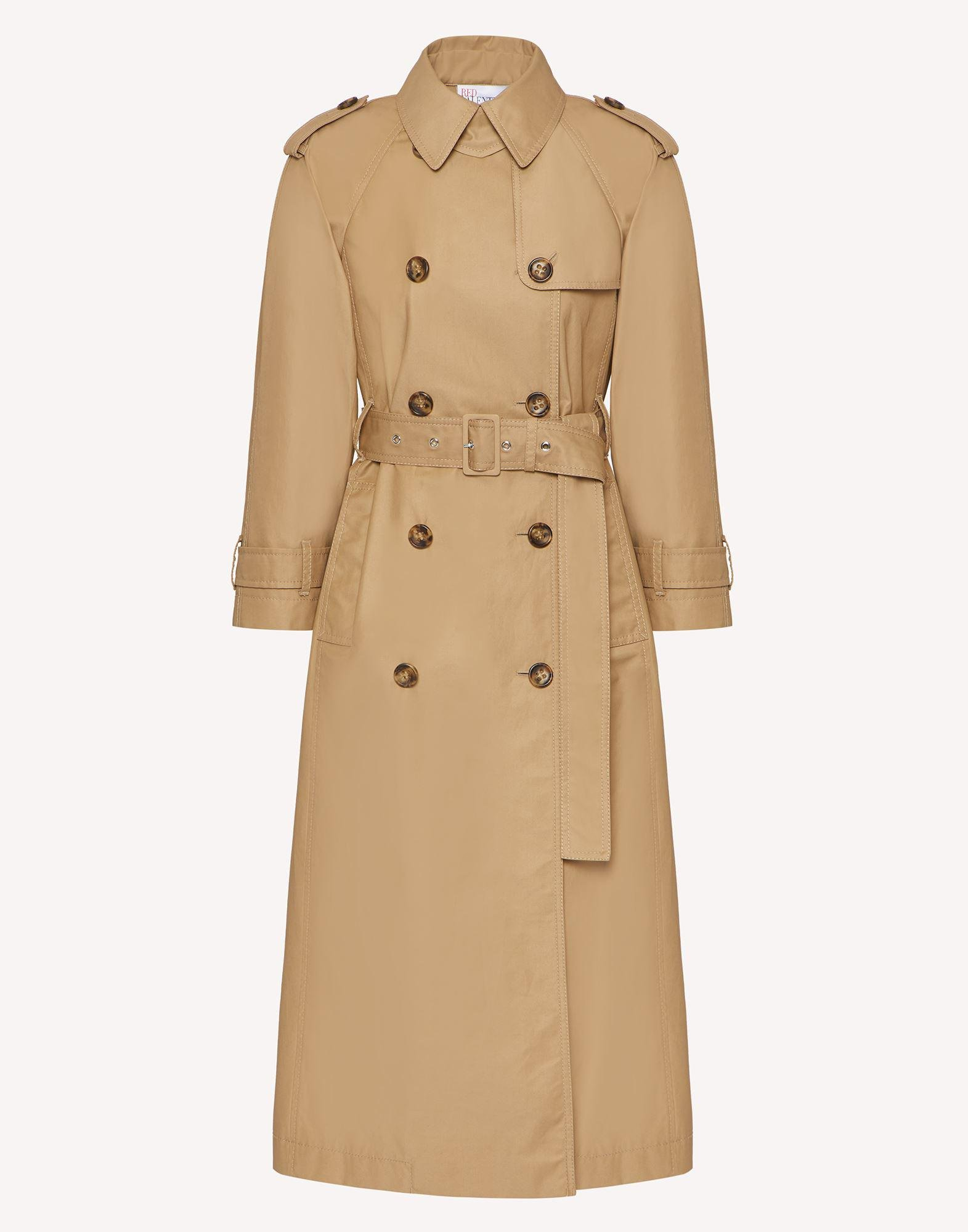 GABARDINE TRENCH COAT WITH BOW DETAILS 3
