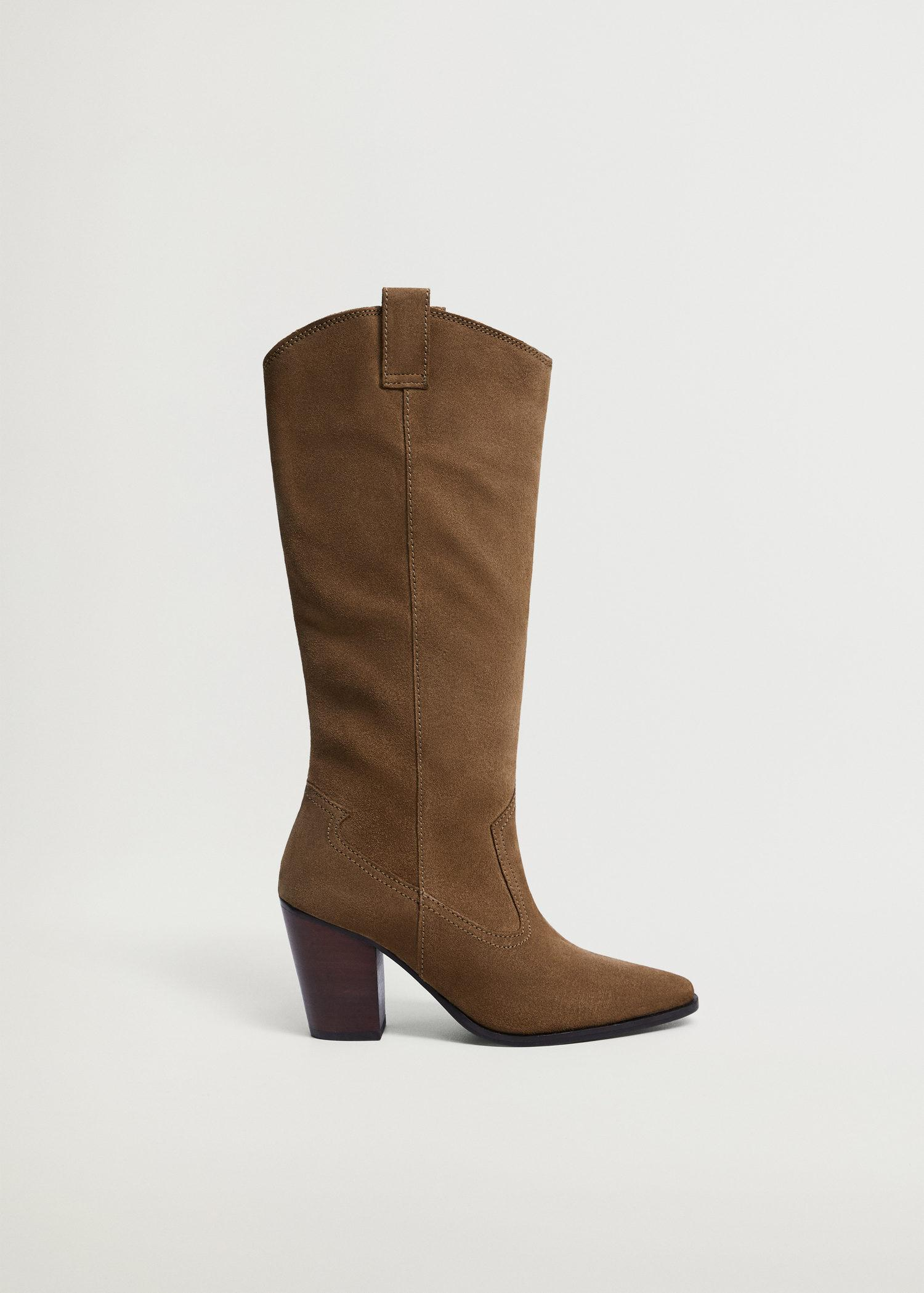 Leather boots with tall leg 0
