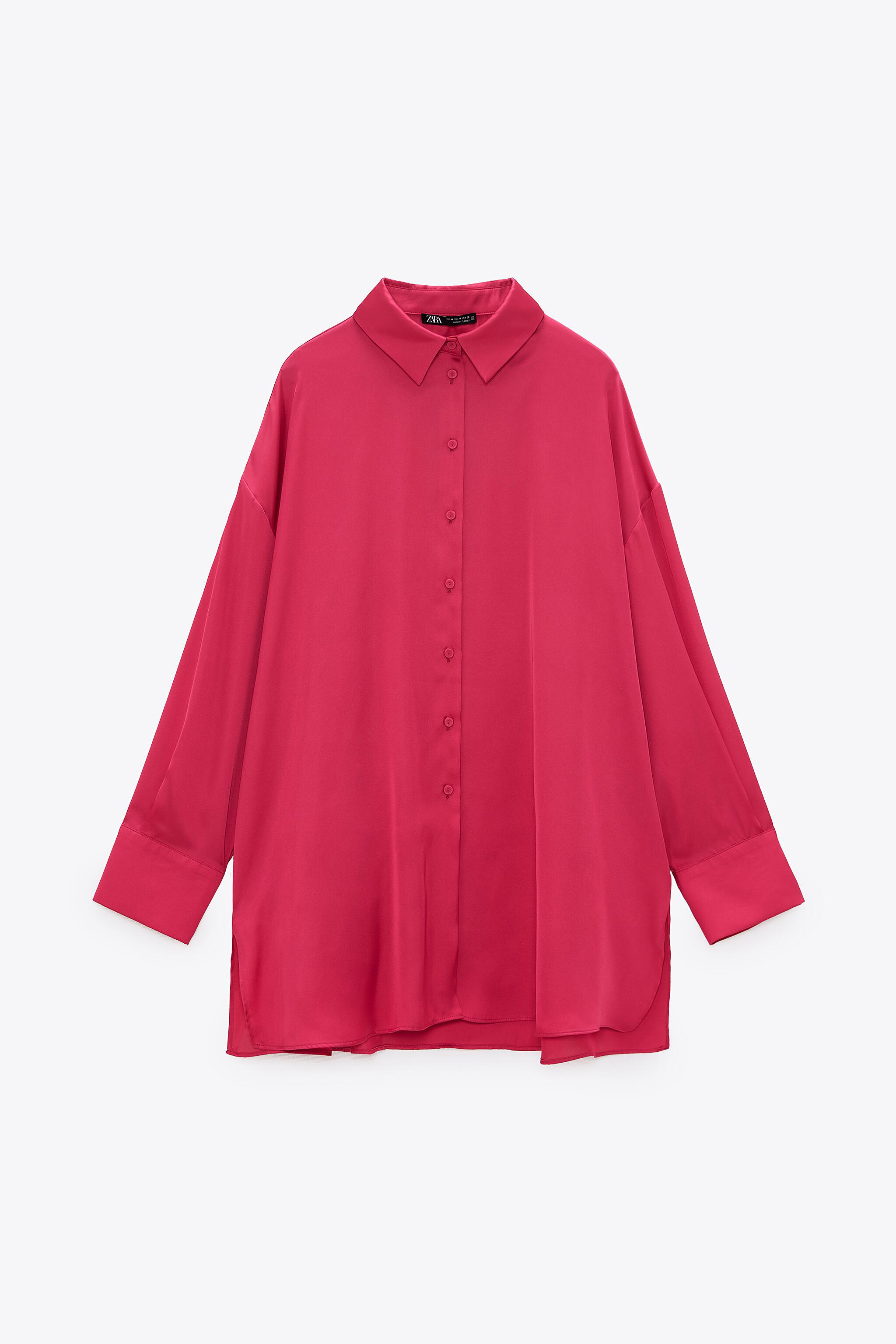 FLOWY LINED BUTTON SHIRT 5