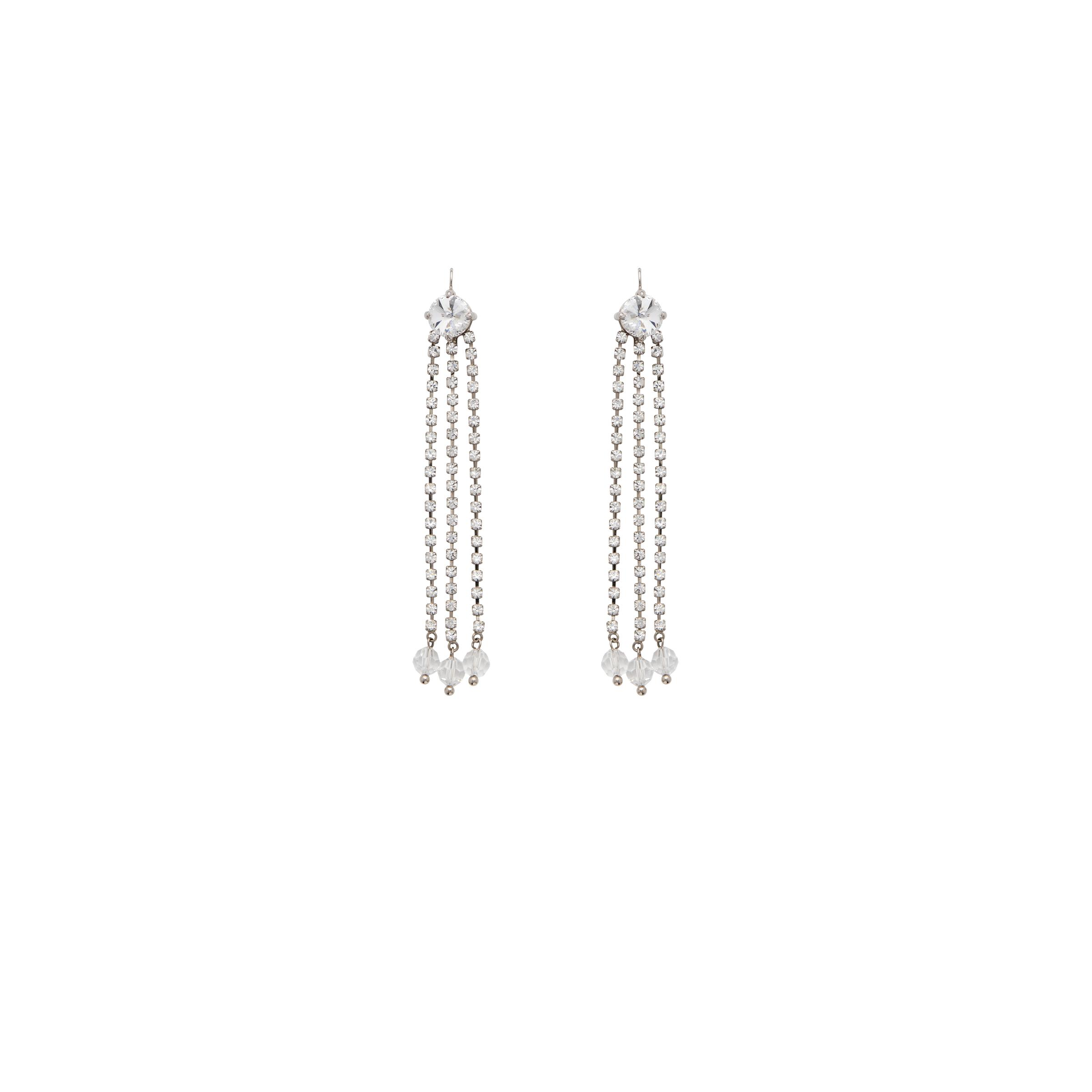 Pendant Earrings With Crystals Women Crystal